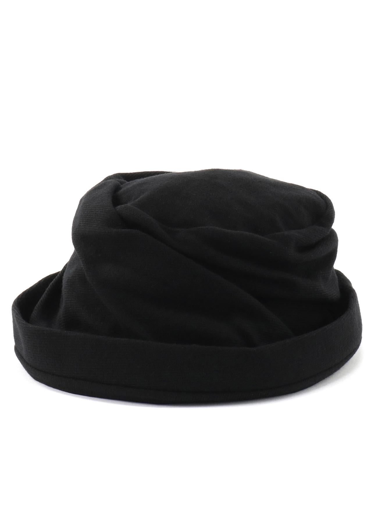 羊毛混纺短檐帽