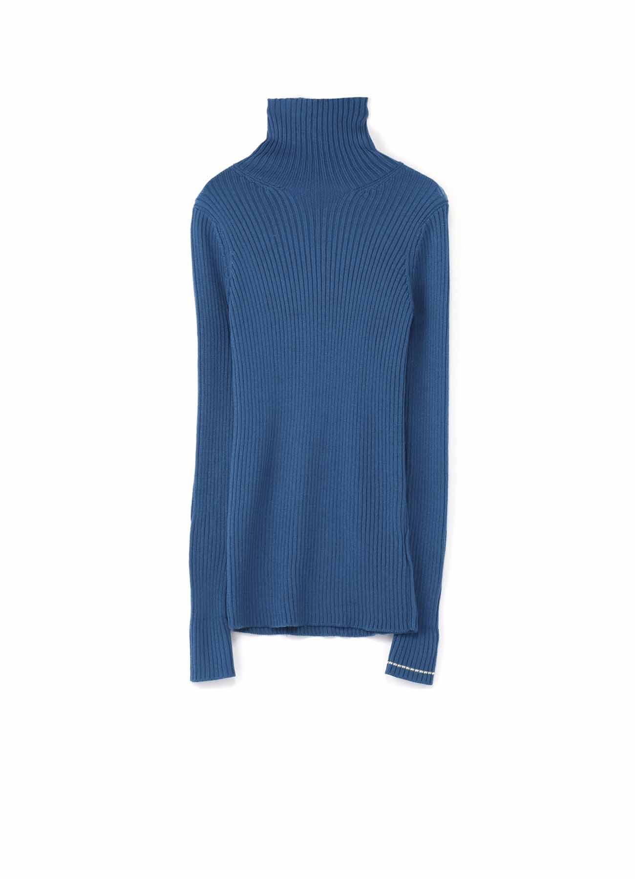 羊毛混纺高领简约针织衫