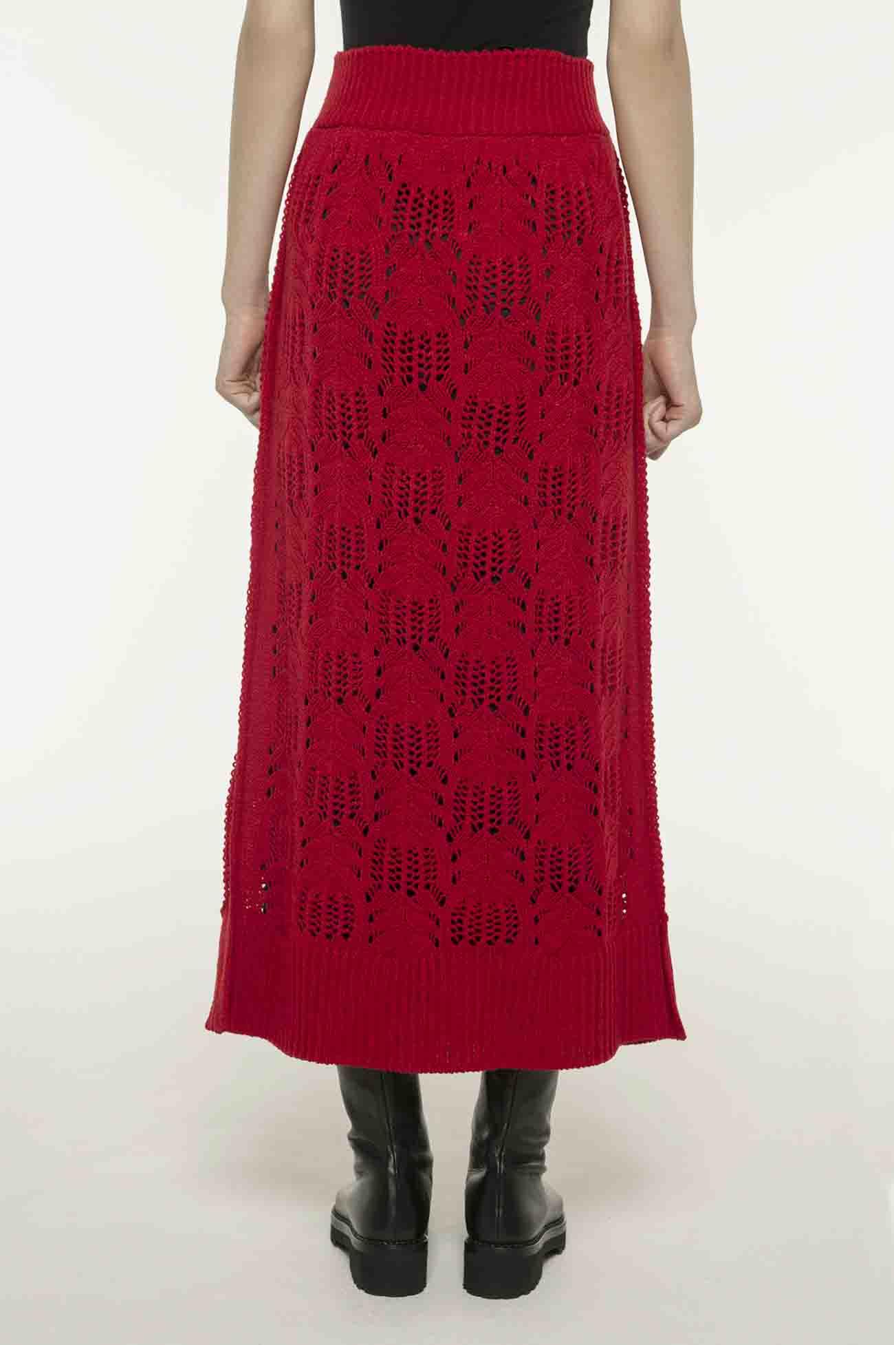 Y'SPINK腈纶羊毛针织半身裙