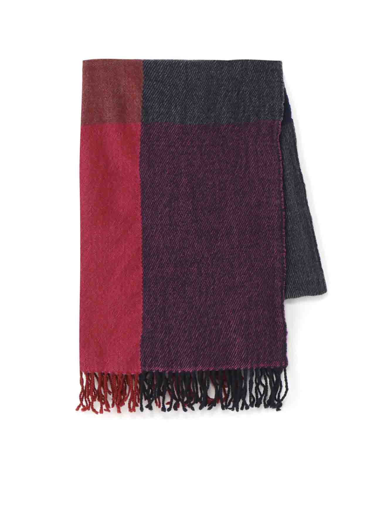 多色格纹围巾
