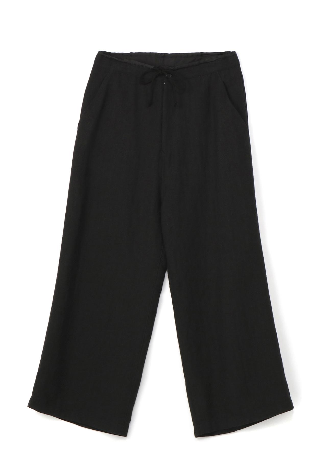 亚麻羊毛混纺直筒裤