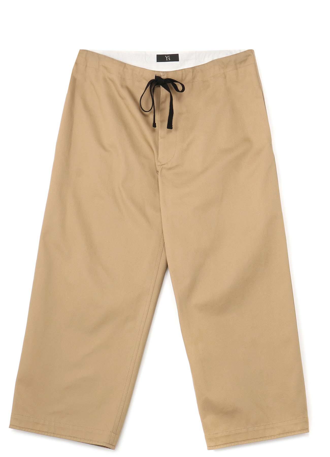 纯棉宽松抽绳直筒裤