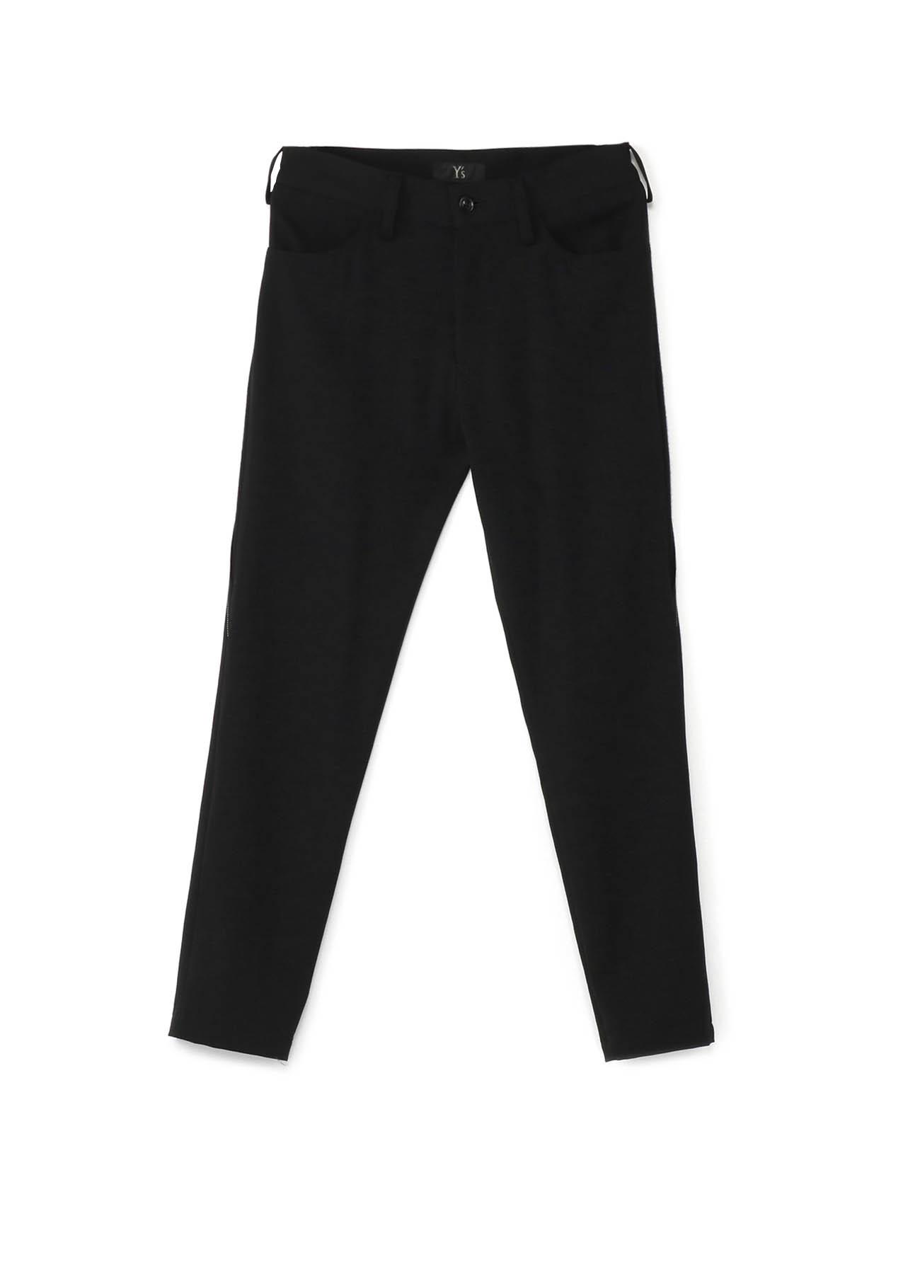 斜裤线窄脚裤