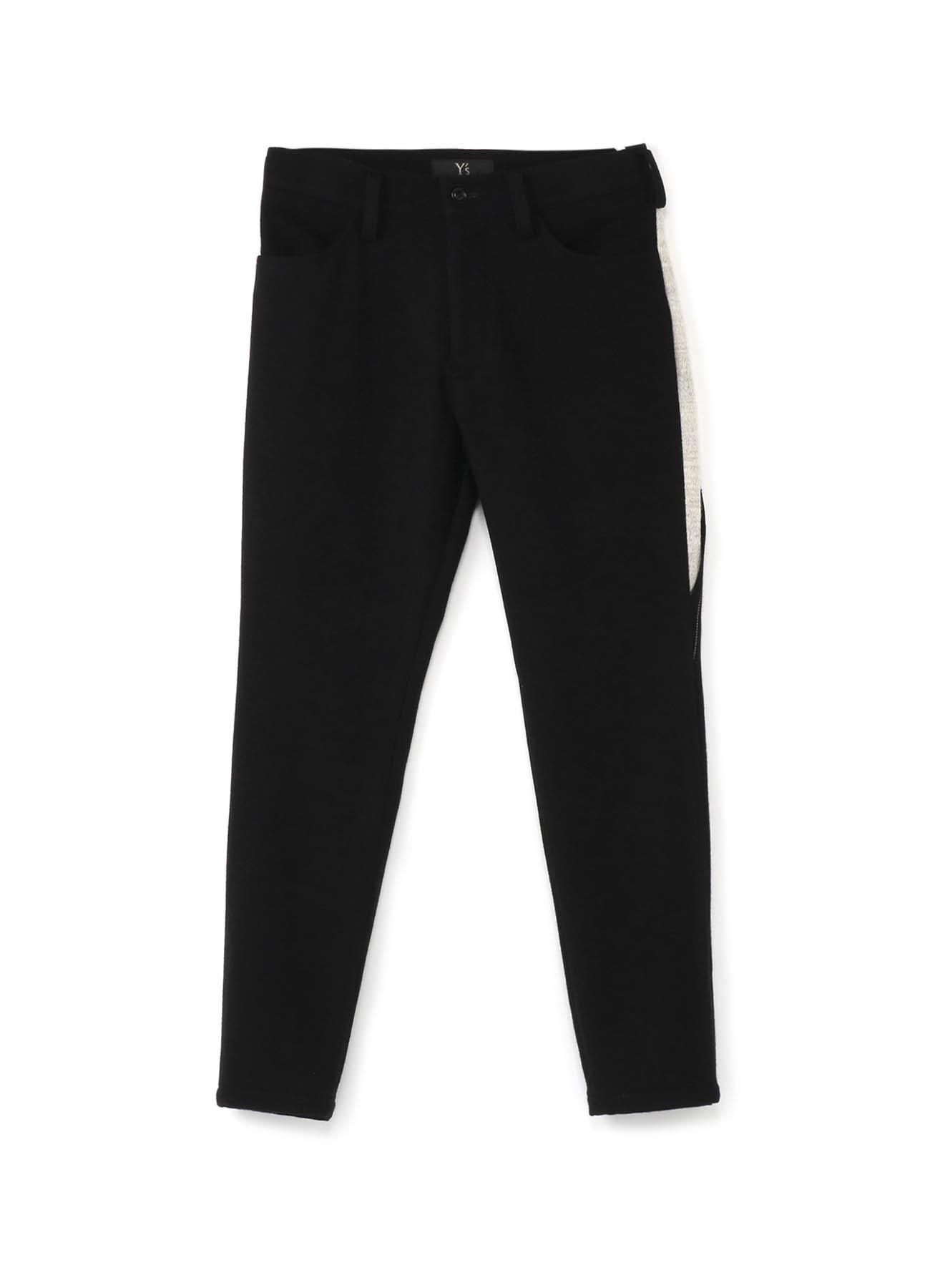 黑白拼接长裤