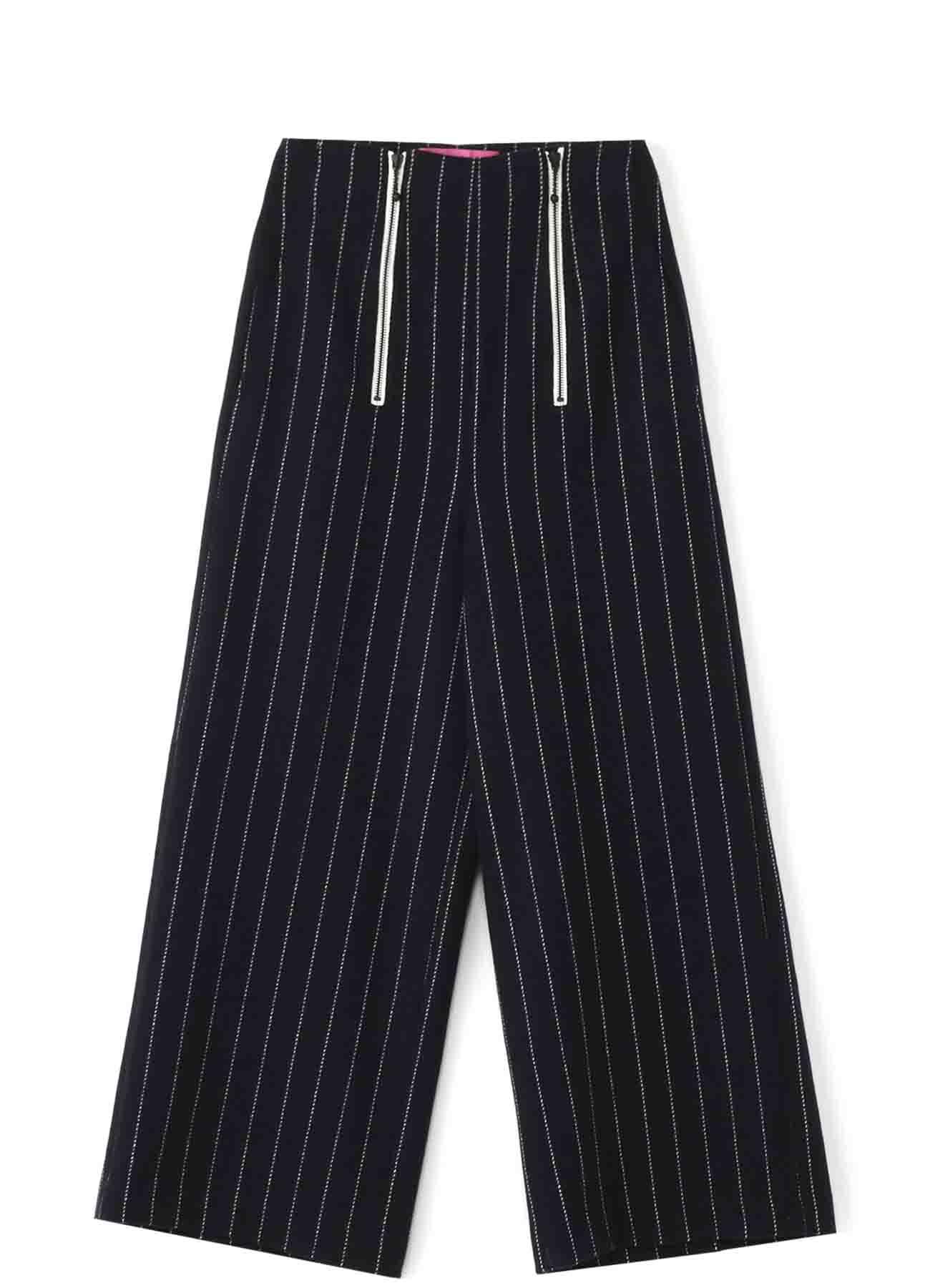 Y'sPINK 再生羊毛条纹长裤