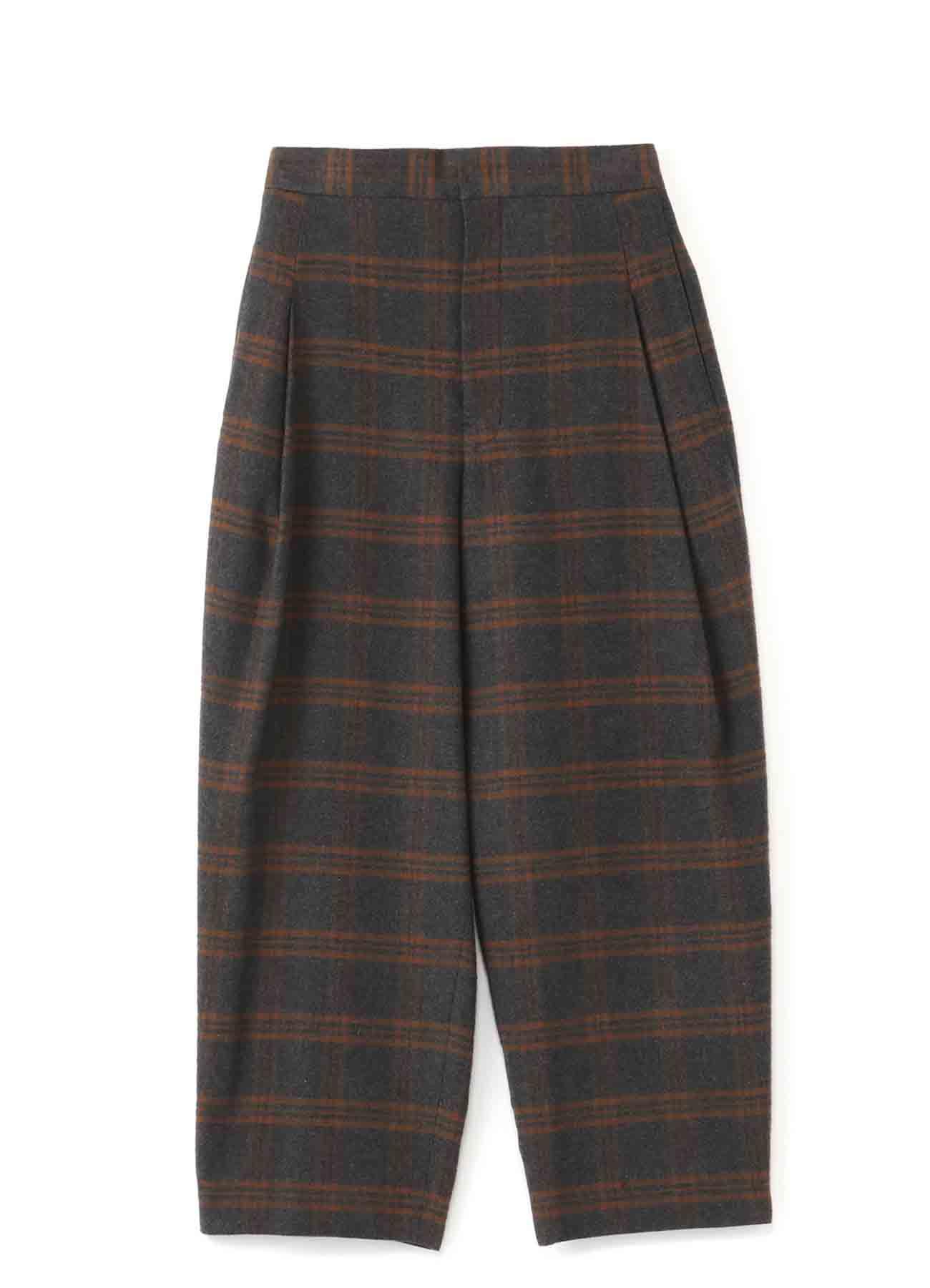 Y'sPINK 格纹简约锥形裤