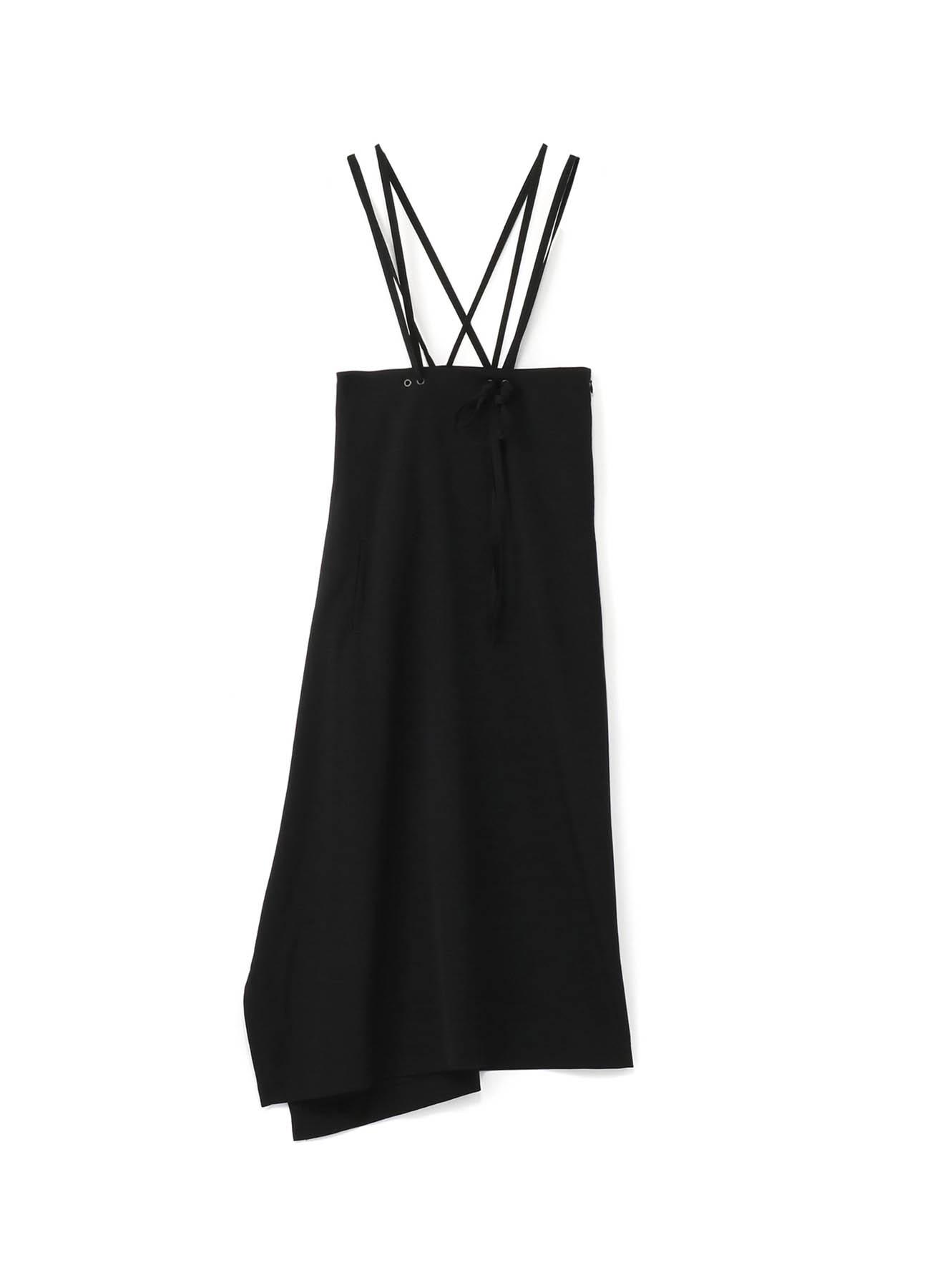シワギャバ 釈迦肩紐スカート