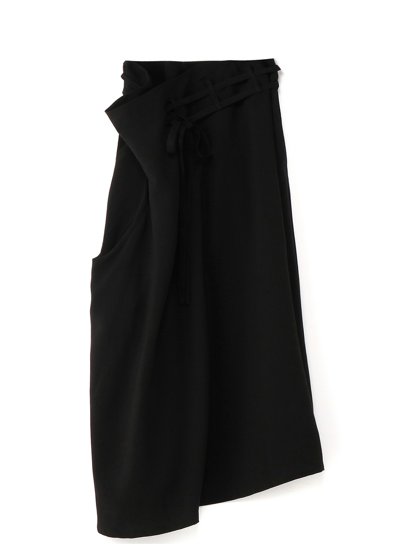 堆积腰身·不对称倾斜下摆半身裙