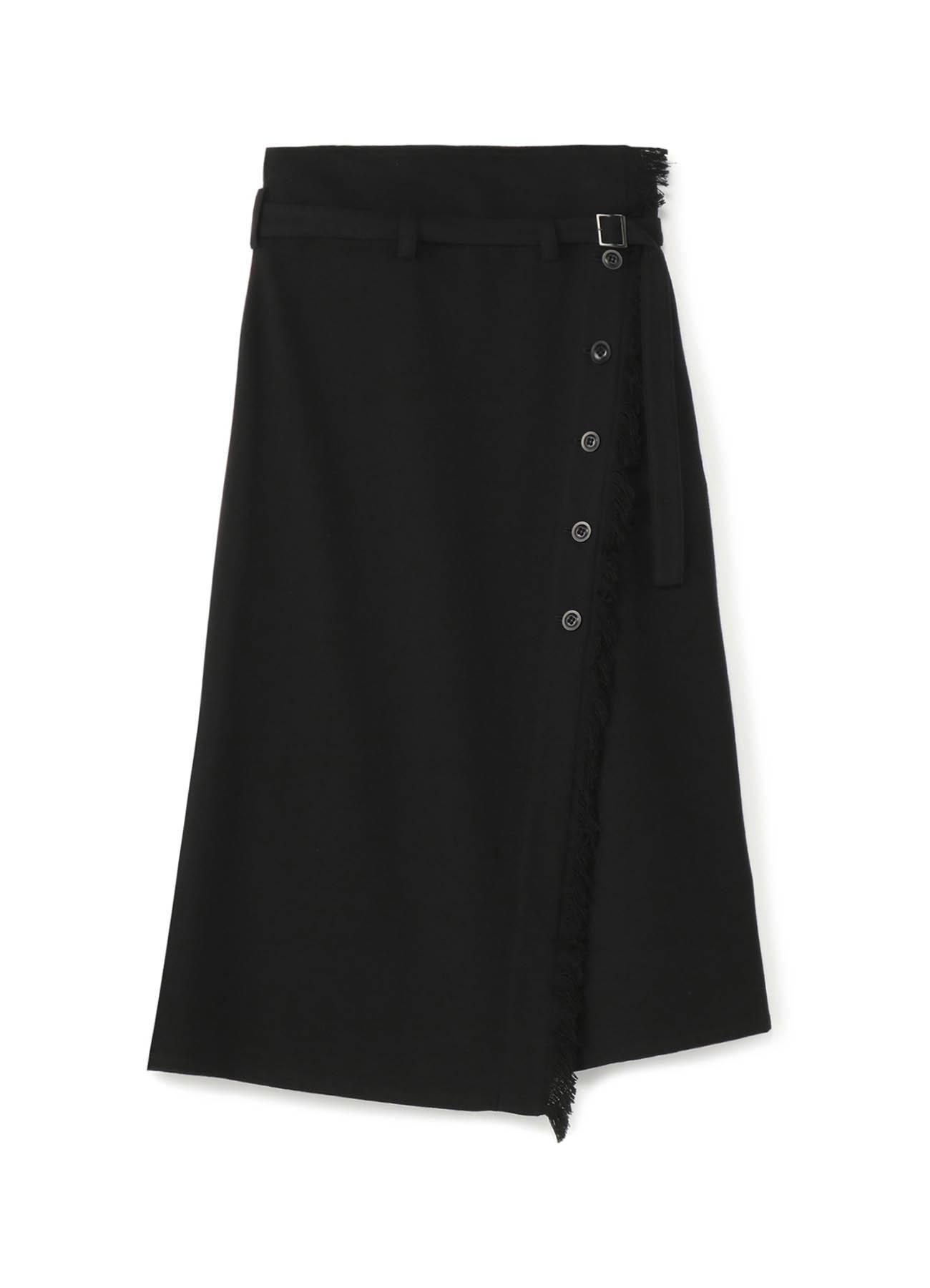 トップツイル フリンジウエストベルトラップスカート
