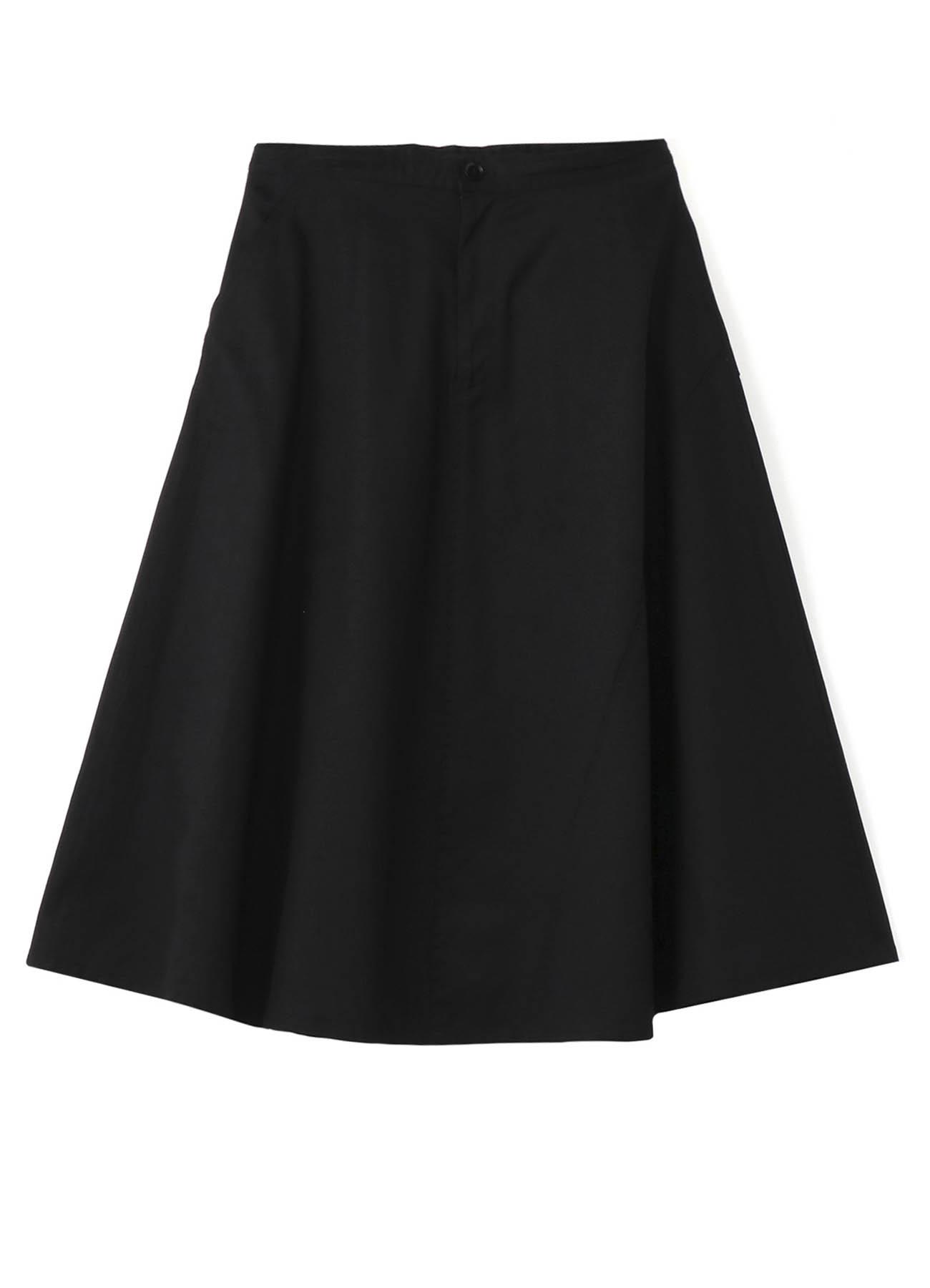 Y's-BORN PRODUCT ツイル バックポケットフレアスカート