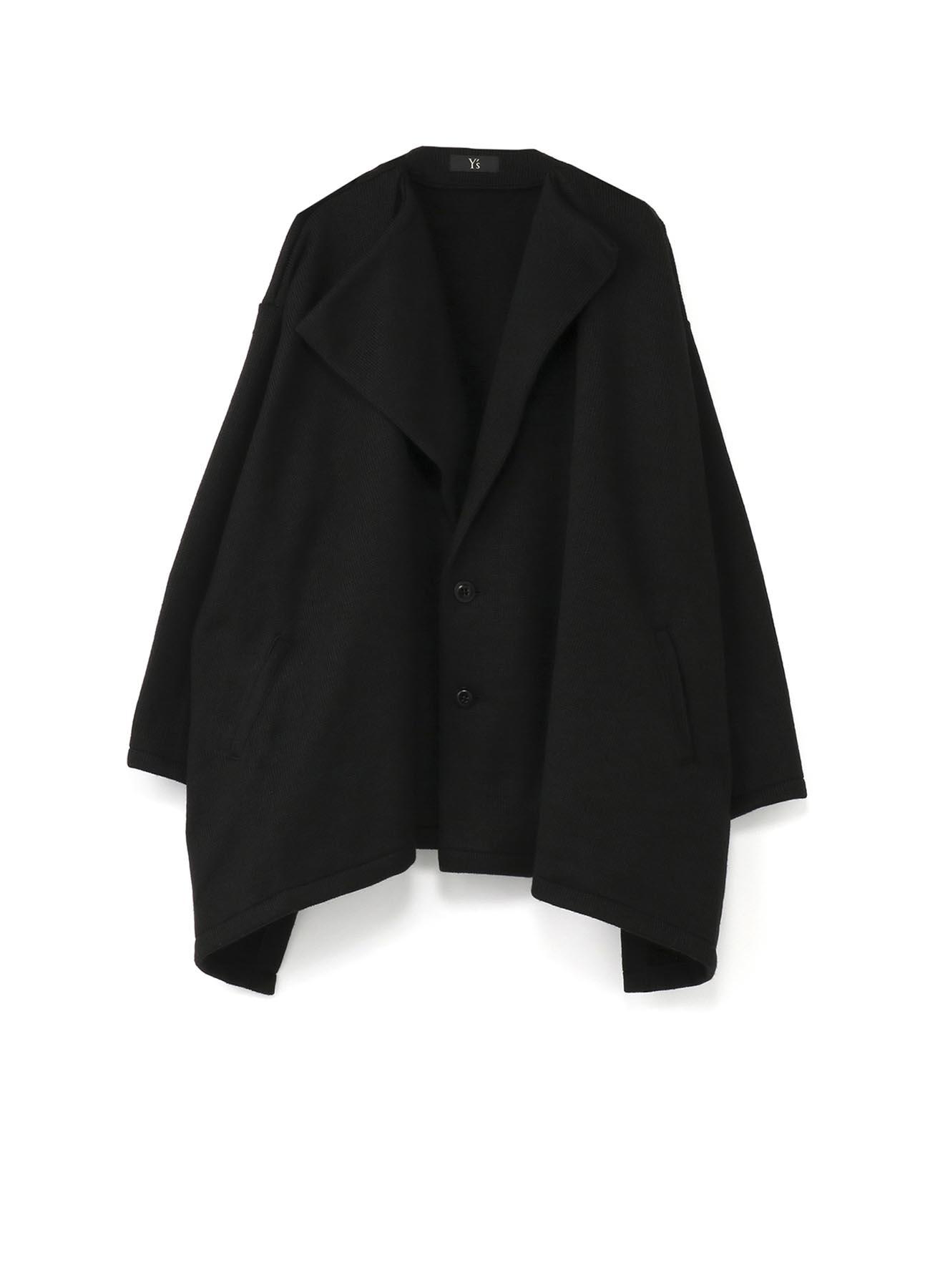 混纺短款外套