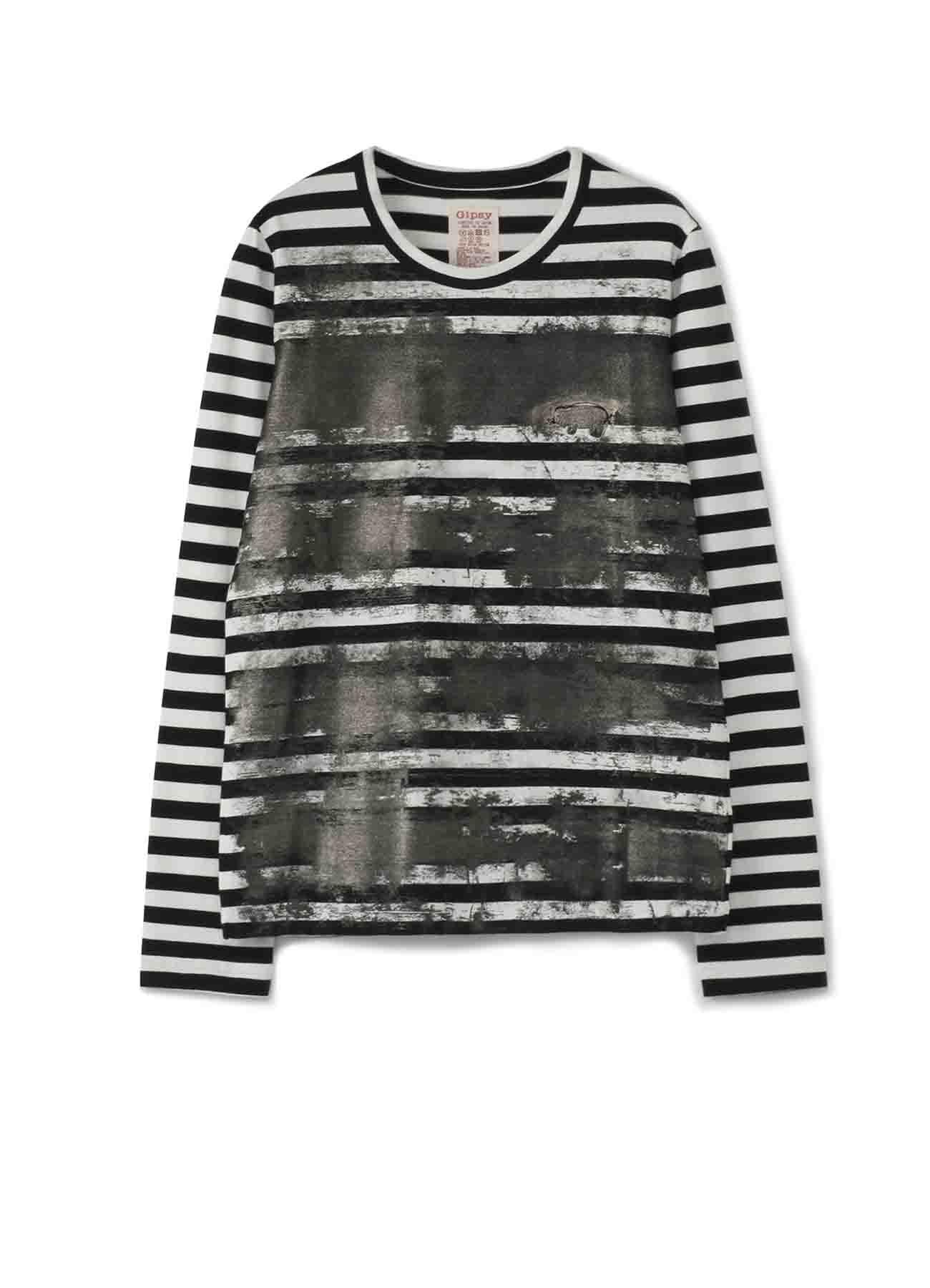 Gipsy 金属颜料涂抹条纹长袖T恤