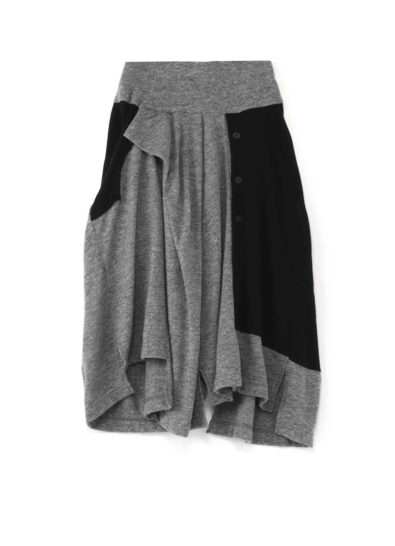 混纺变形剪裁半身裙