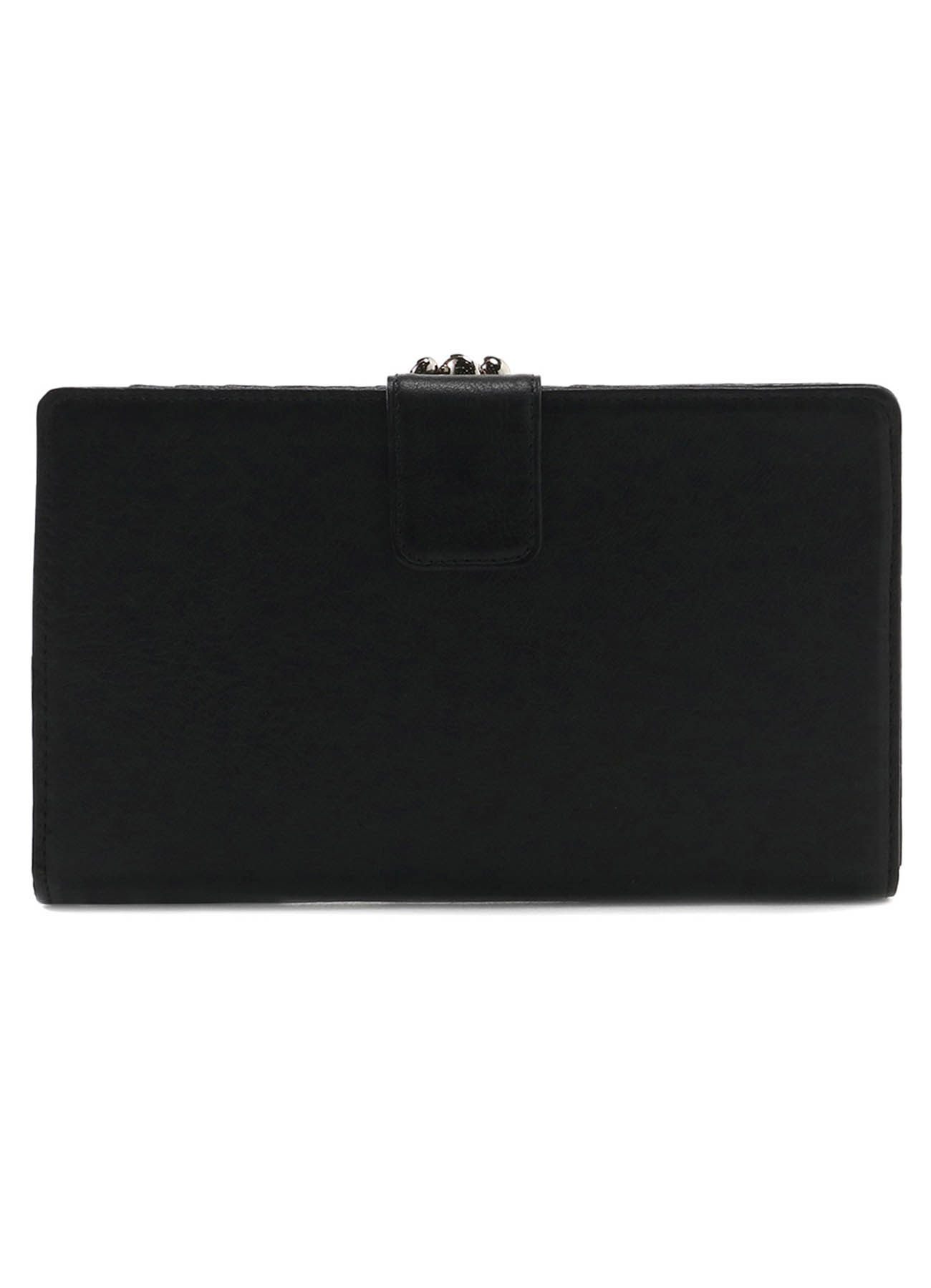 SEMI GLOSS LEATHER A CLASP LONG WALLET