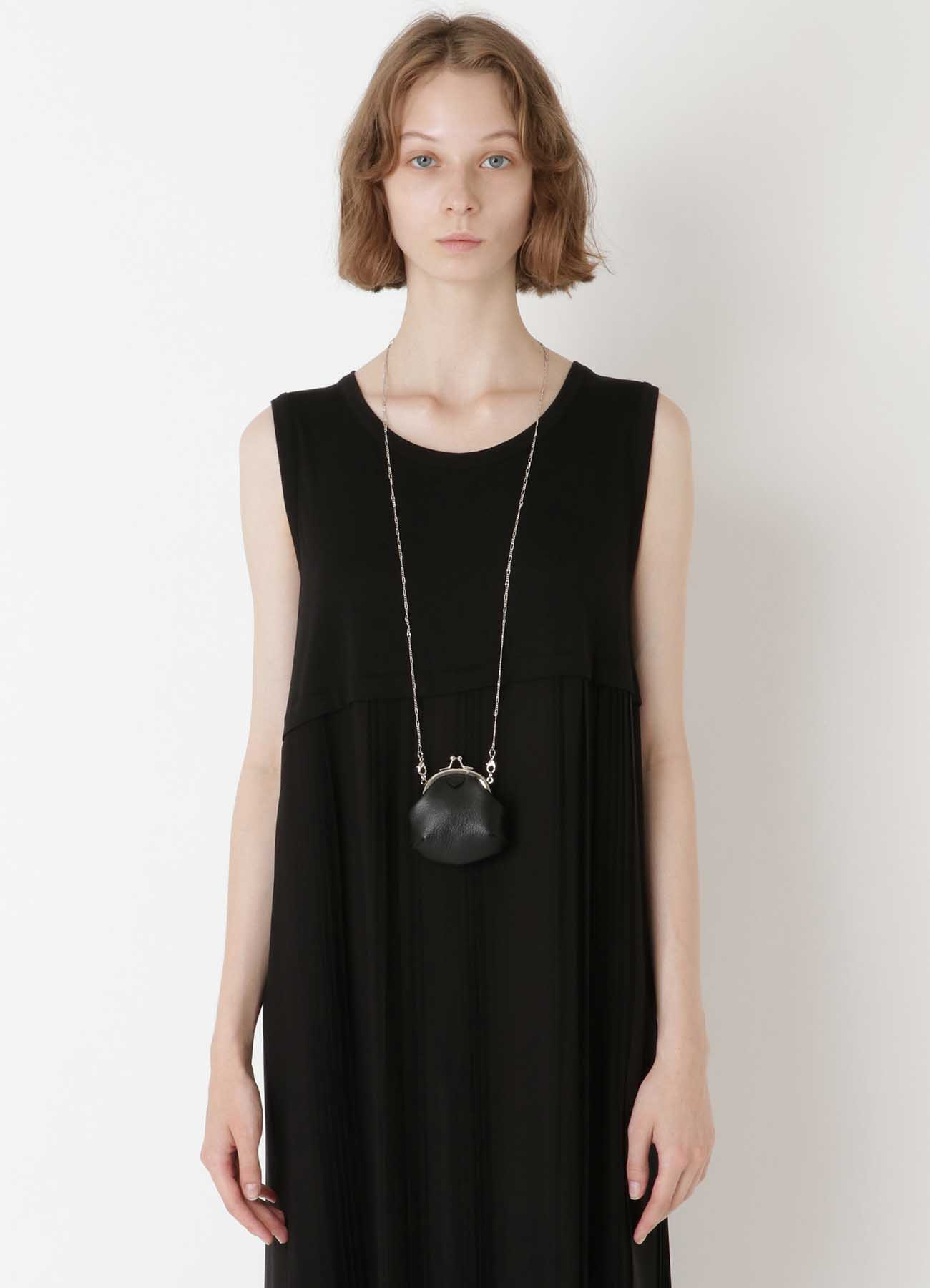 SEMI GLOSS LEATHER A CLASP NECKLACE