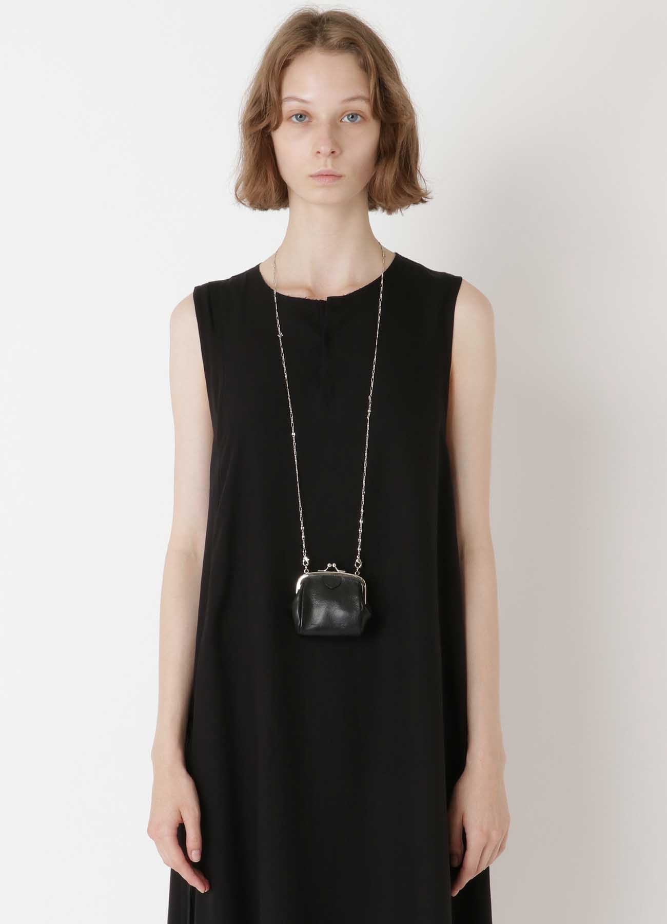 SEMI GLOSS LEATHER A CLASP NECKLACE M