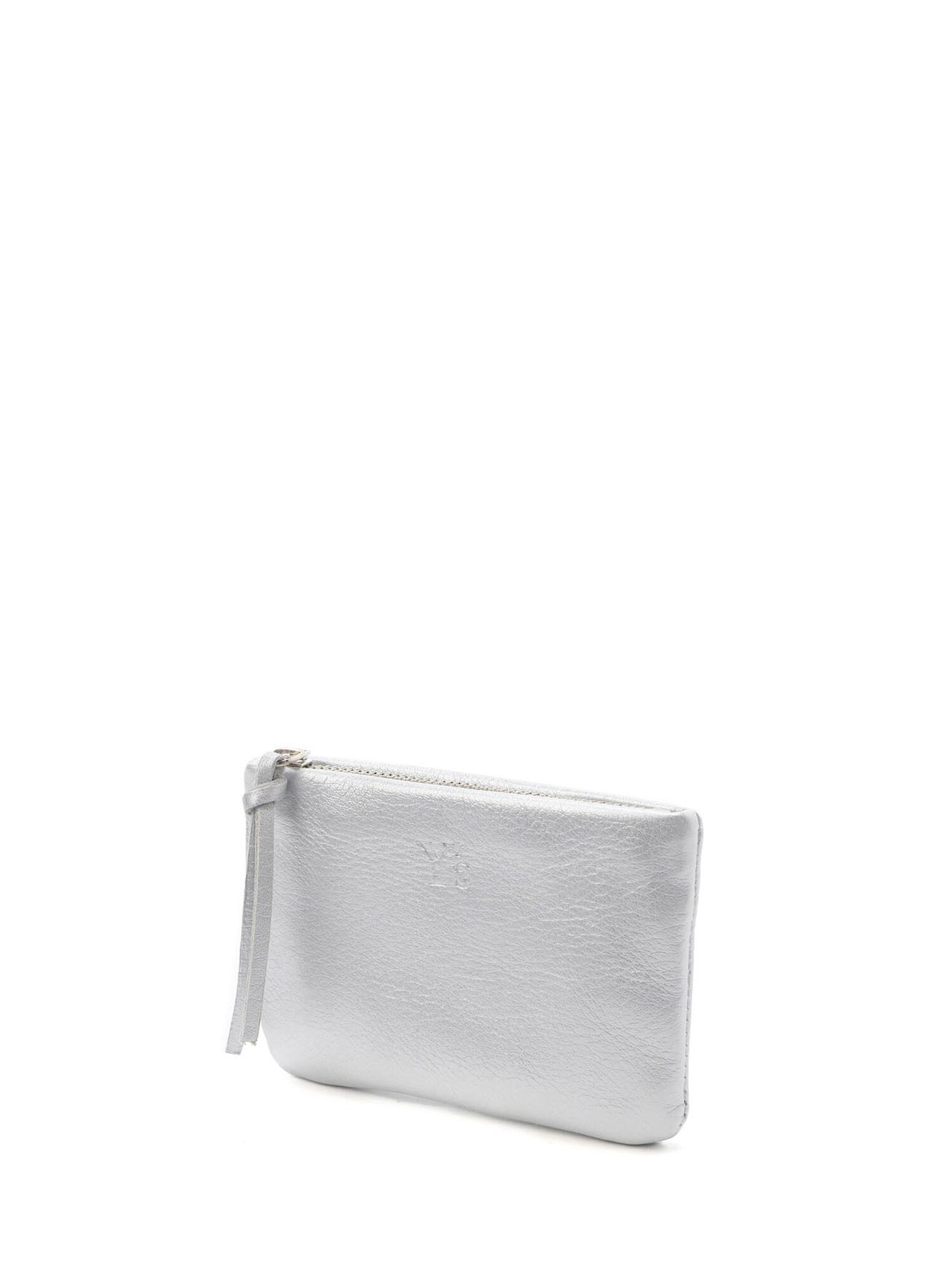 SOFT COLOR LEATHER FASTENER POUCH S