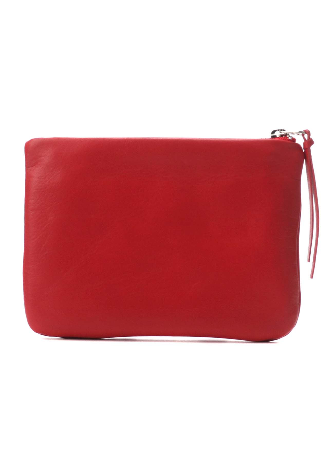 SOFT COLOR LEATHER FASTENER POUCH M
