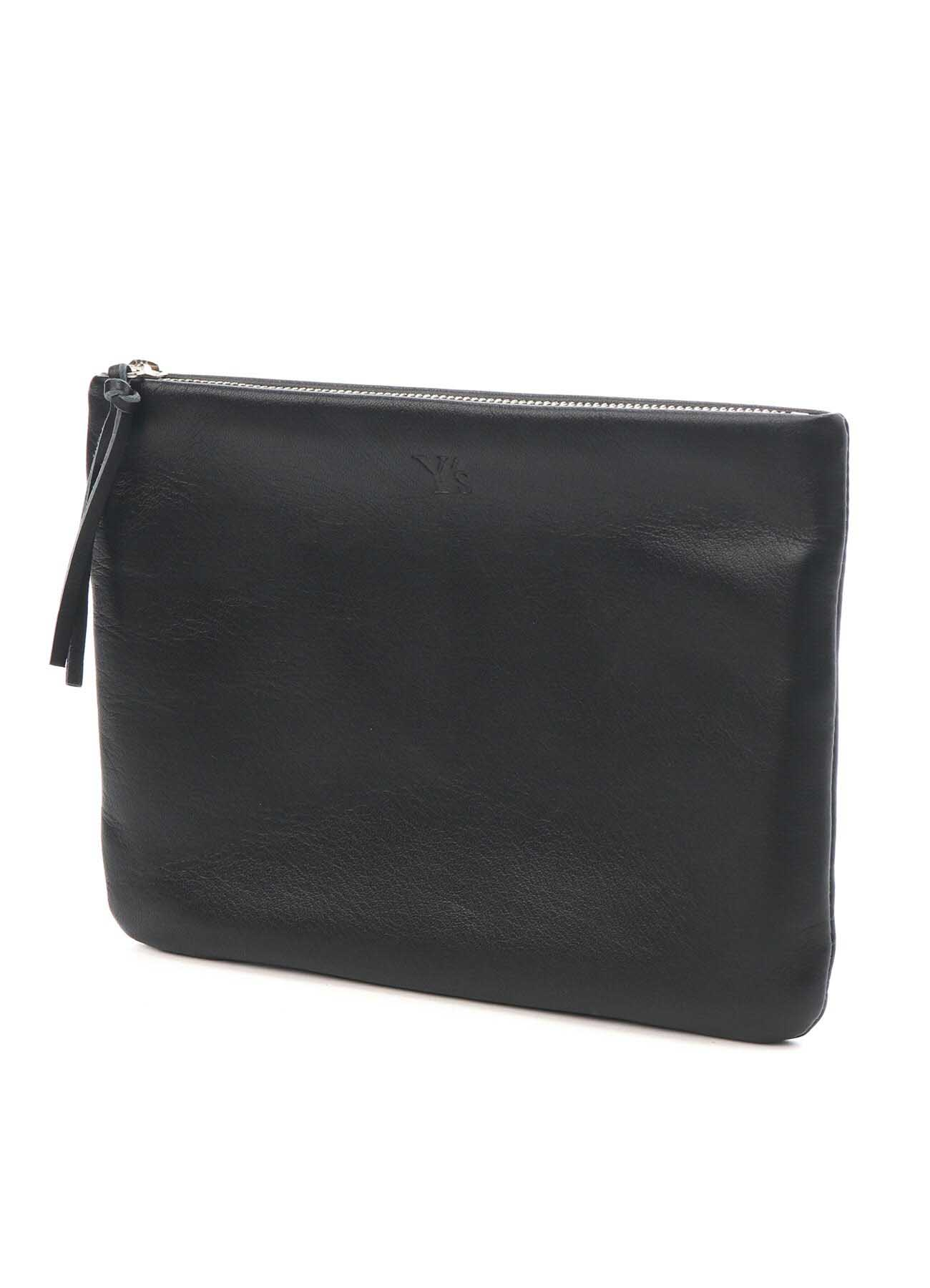 SOFT COLOR LEATHER FASTENER POUCH L