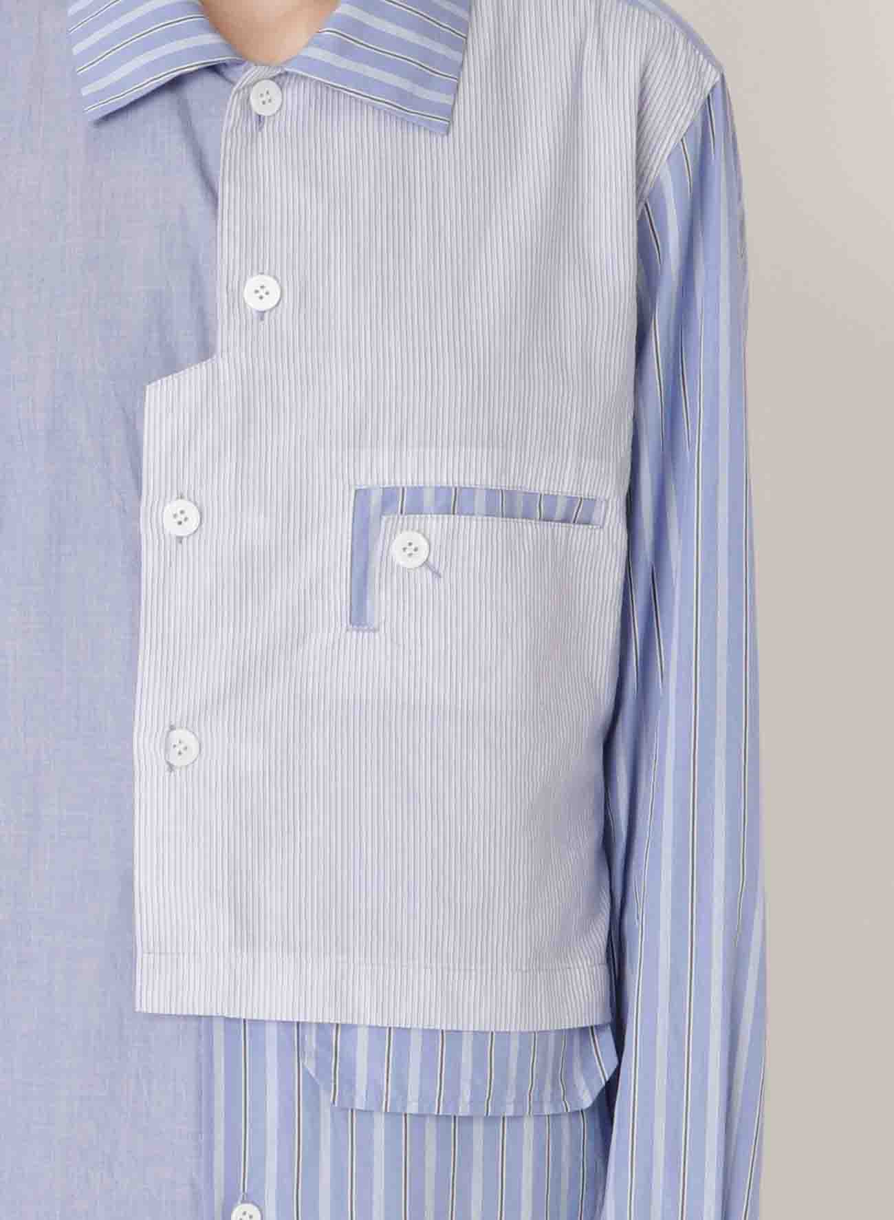 COMBINATION LEFT LAYERED BLOUSE
