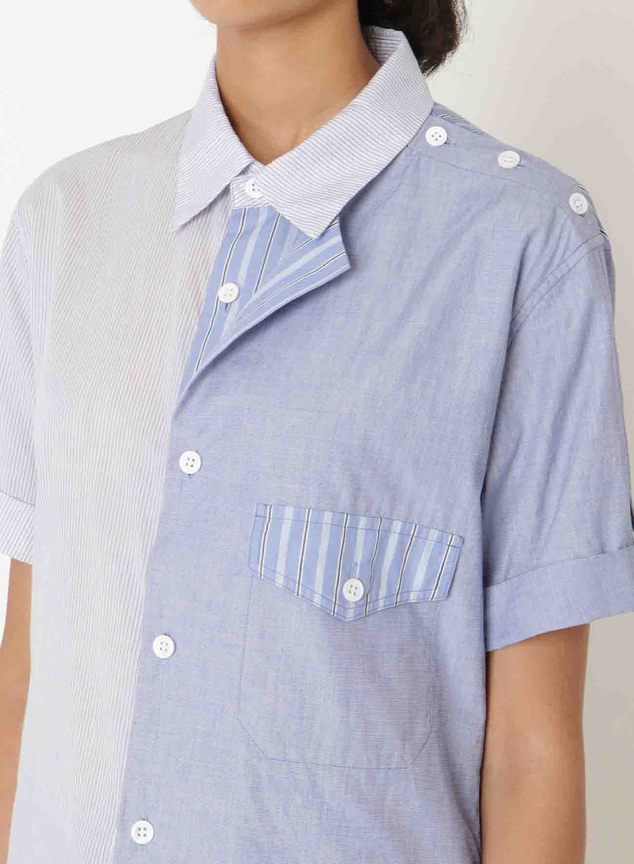 COMBINATION SHORT SLEEVE MACKIN BLOUSE