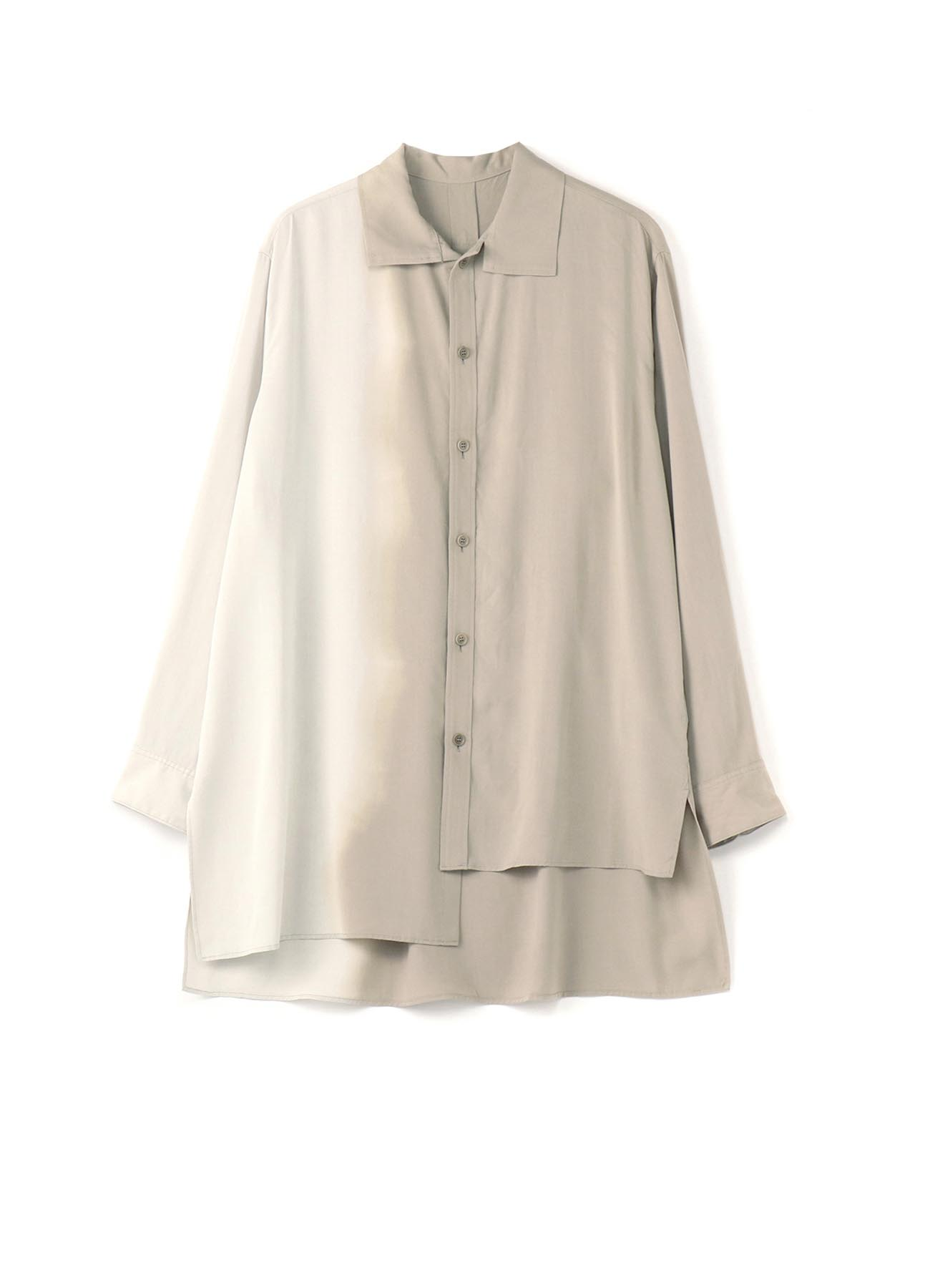 Ry/Pe VENUS TWILL GD DYE LEFT FLASH COLLAR BLOUSE