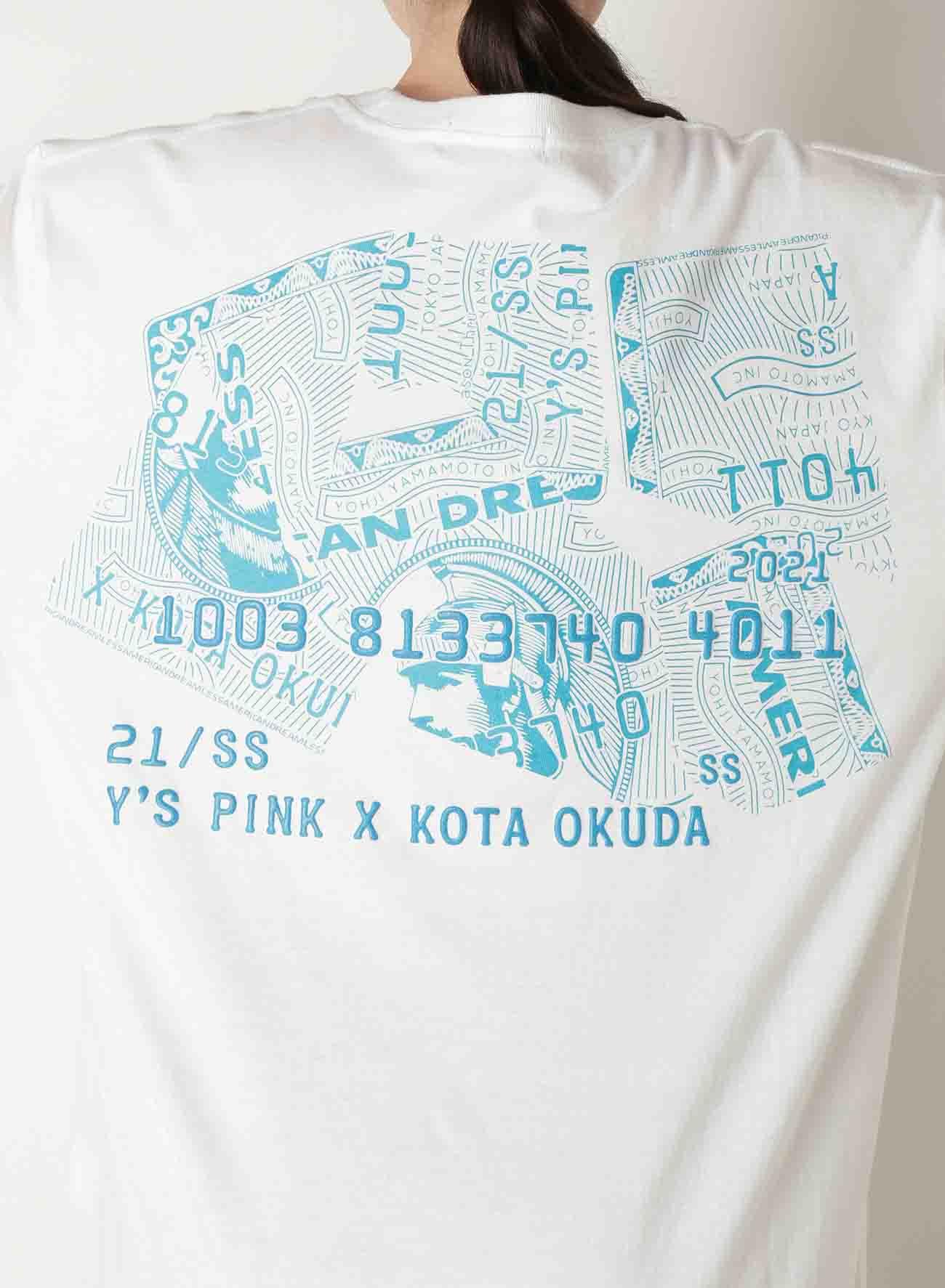 Y's PINK/KOTA OKUDA CD PRINT LONG SL T
