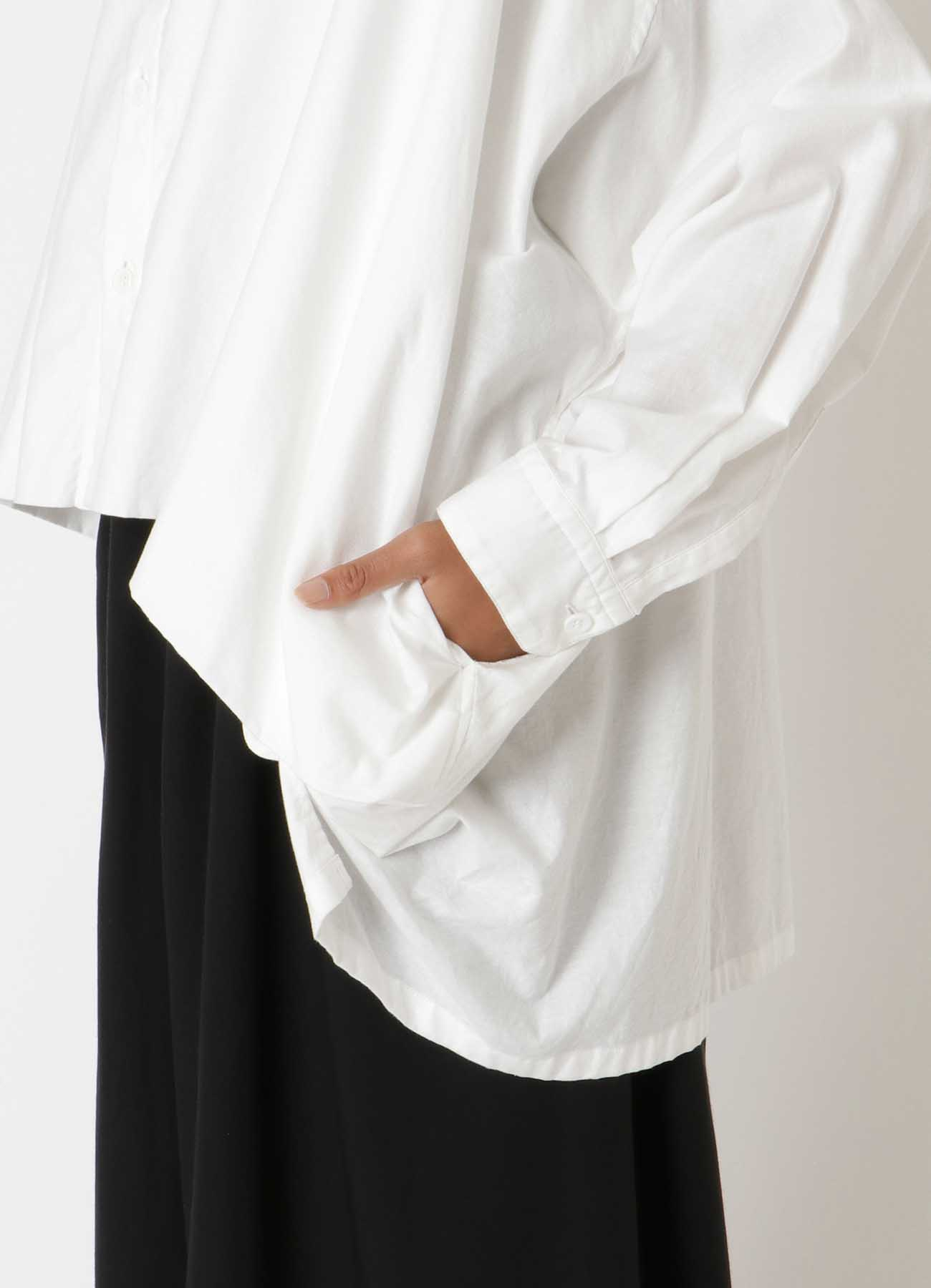 C/ THIN TWILL FRONT DOUBLE BIG BLOUSE