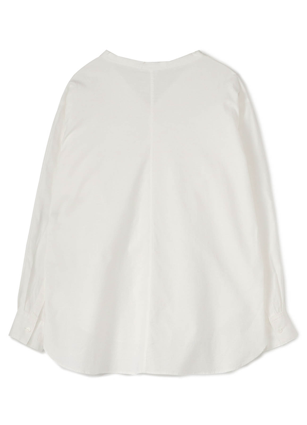 C/ THIN TWILL CUTTING OUT COLLAR BLOUSE