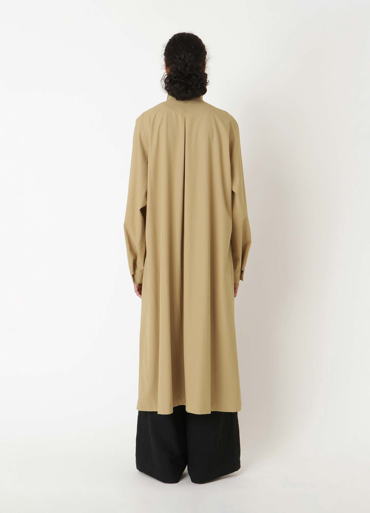 60/2 TWISTED GABARDINE FRONT BELT LONG COAT