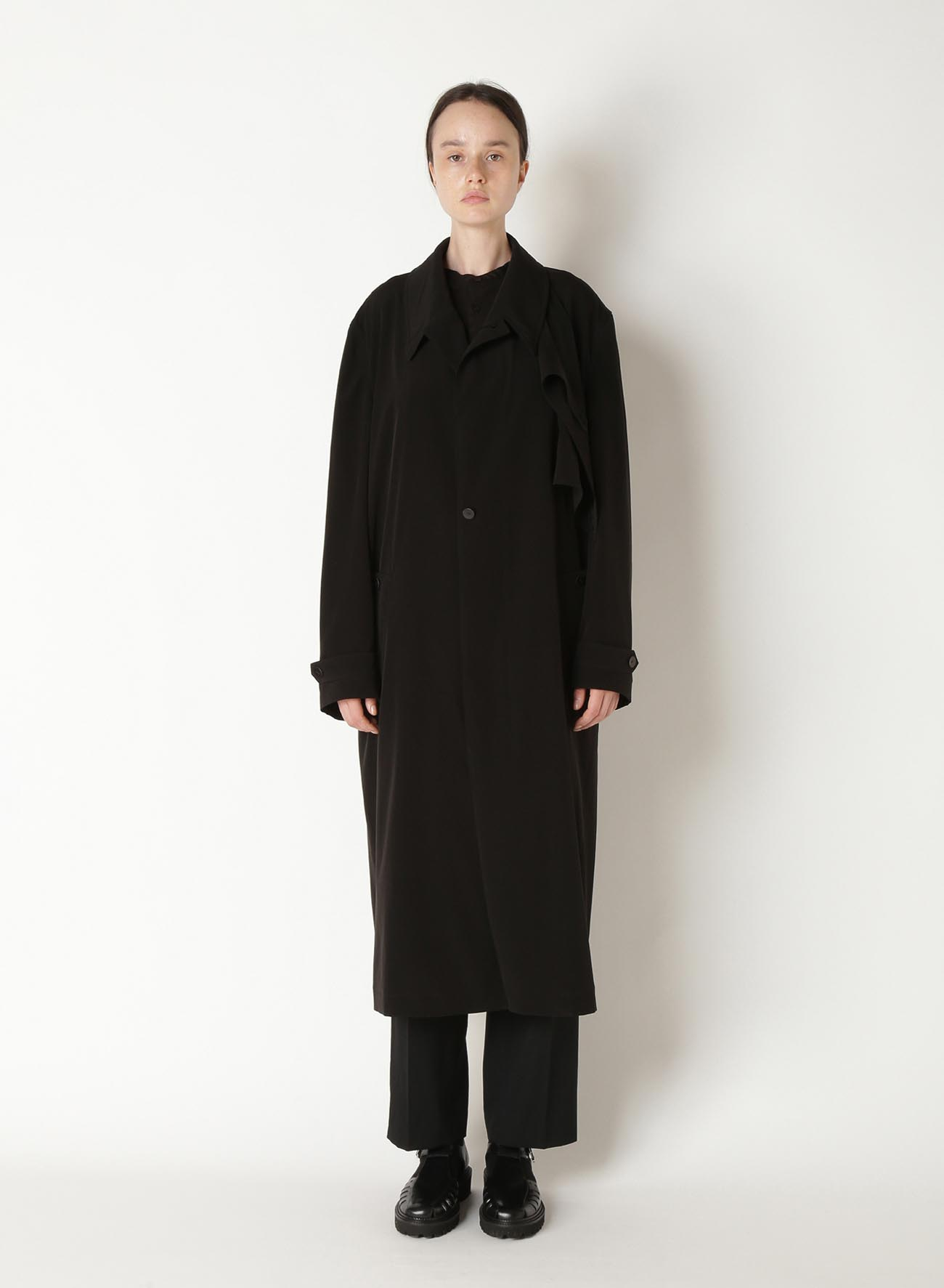 TRIACETATE POLY TUSSAR TRENCH COAT
