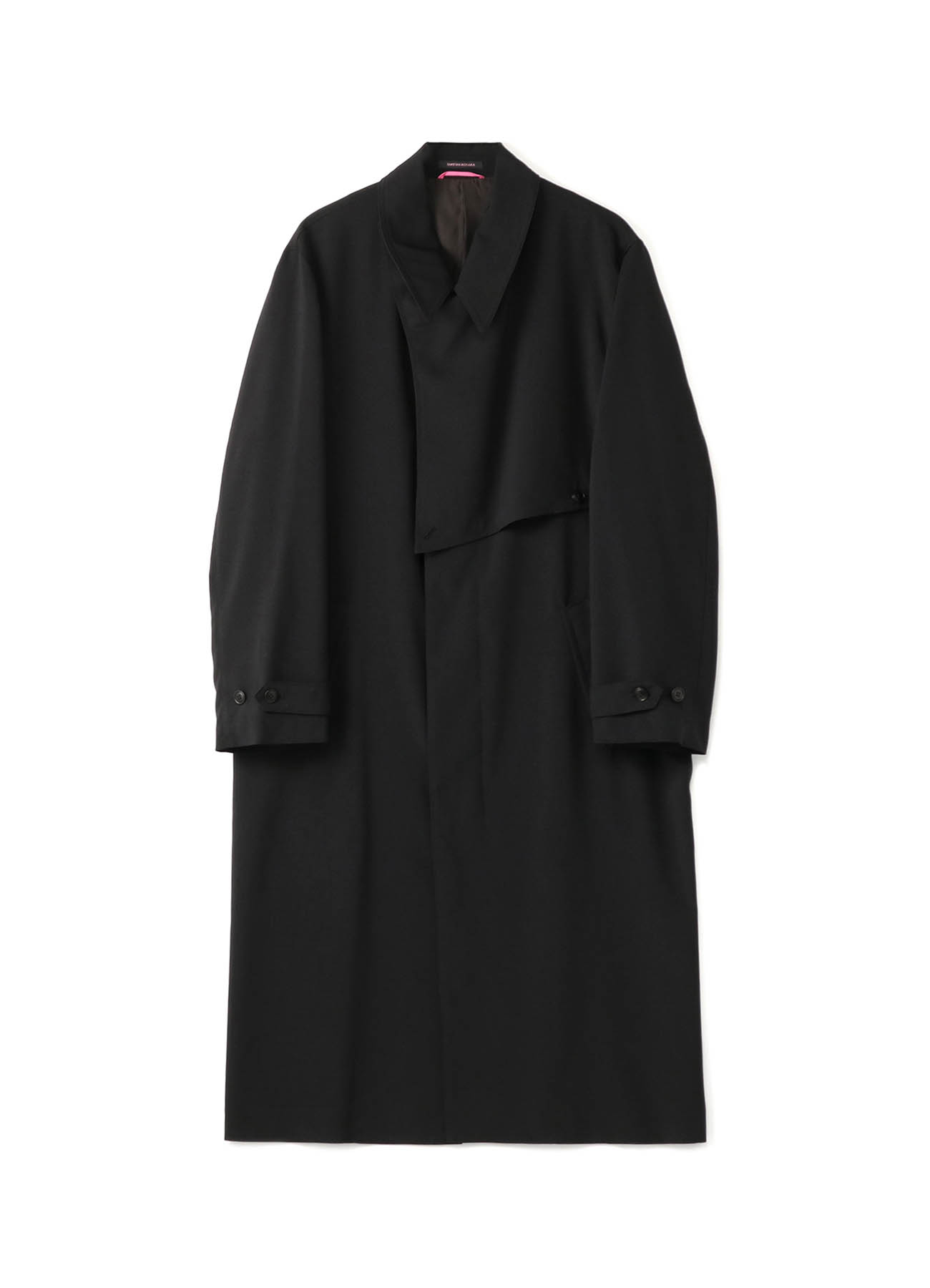 TRIP-WOOL POLYESTER TROPICAL TRENCH COAT