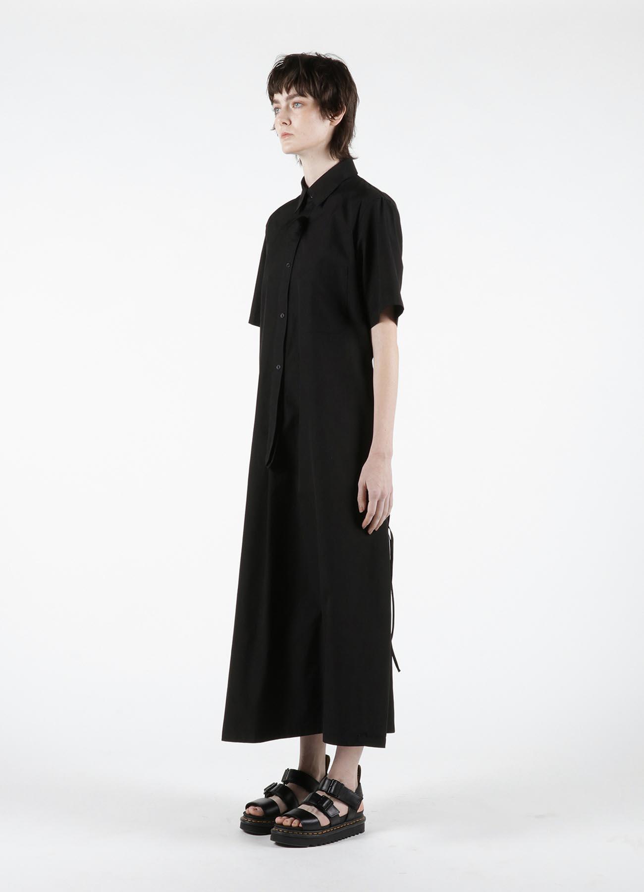 BROAD SHORT SLEEVE SHIRT DRESS