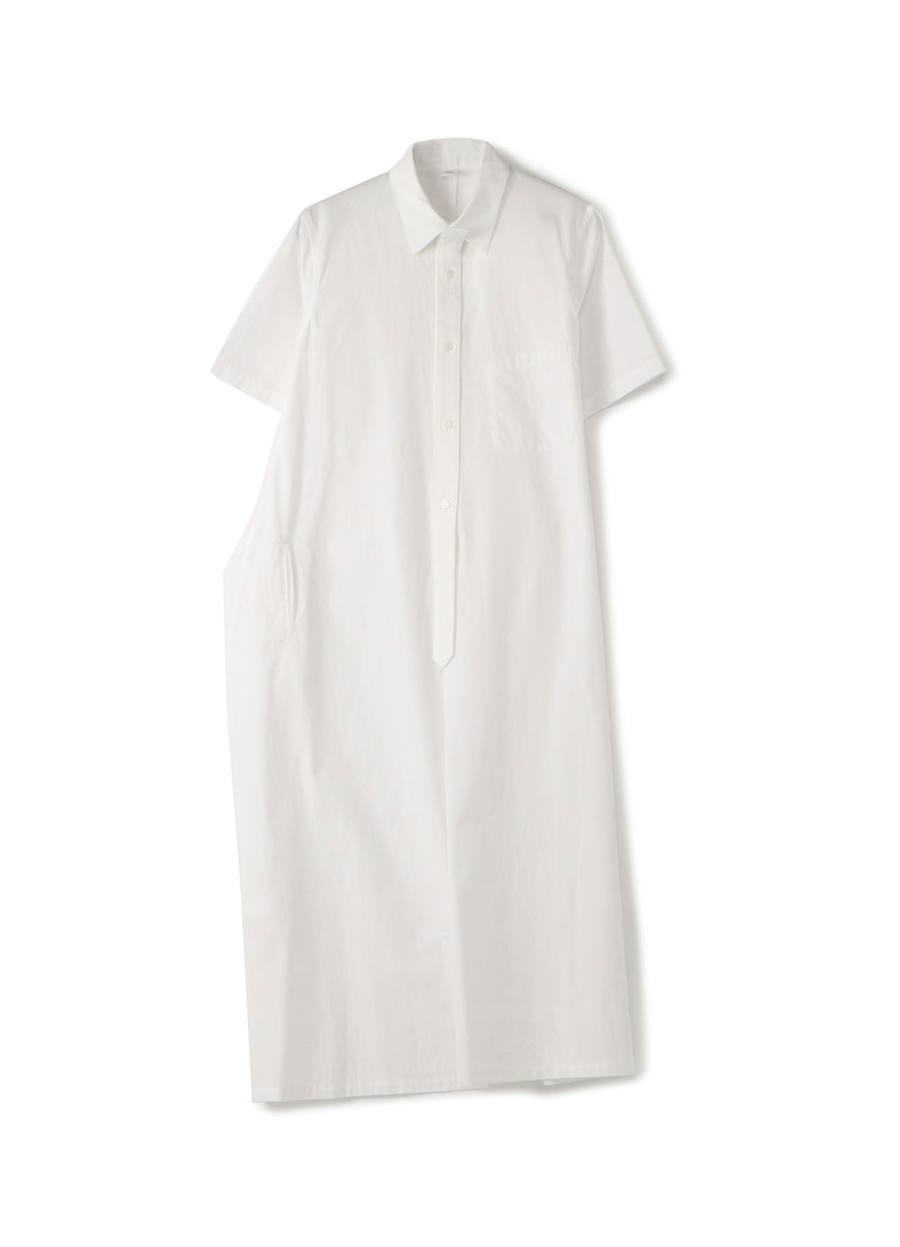 BROAD SHORT SLEEVE SHIRT DRESS