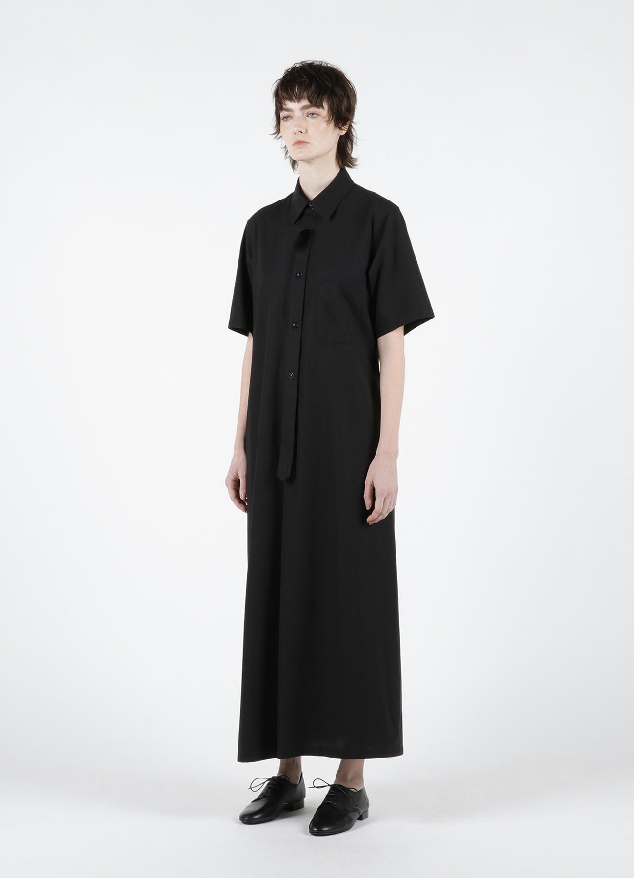 60/2 TWISTED GABARDINE SHORT SLEEVE SHIRT DRESS