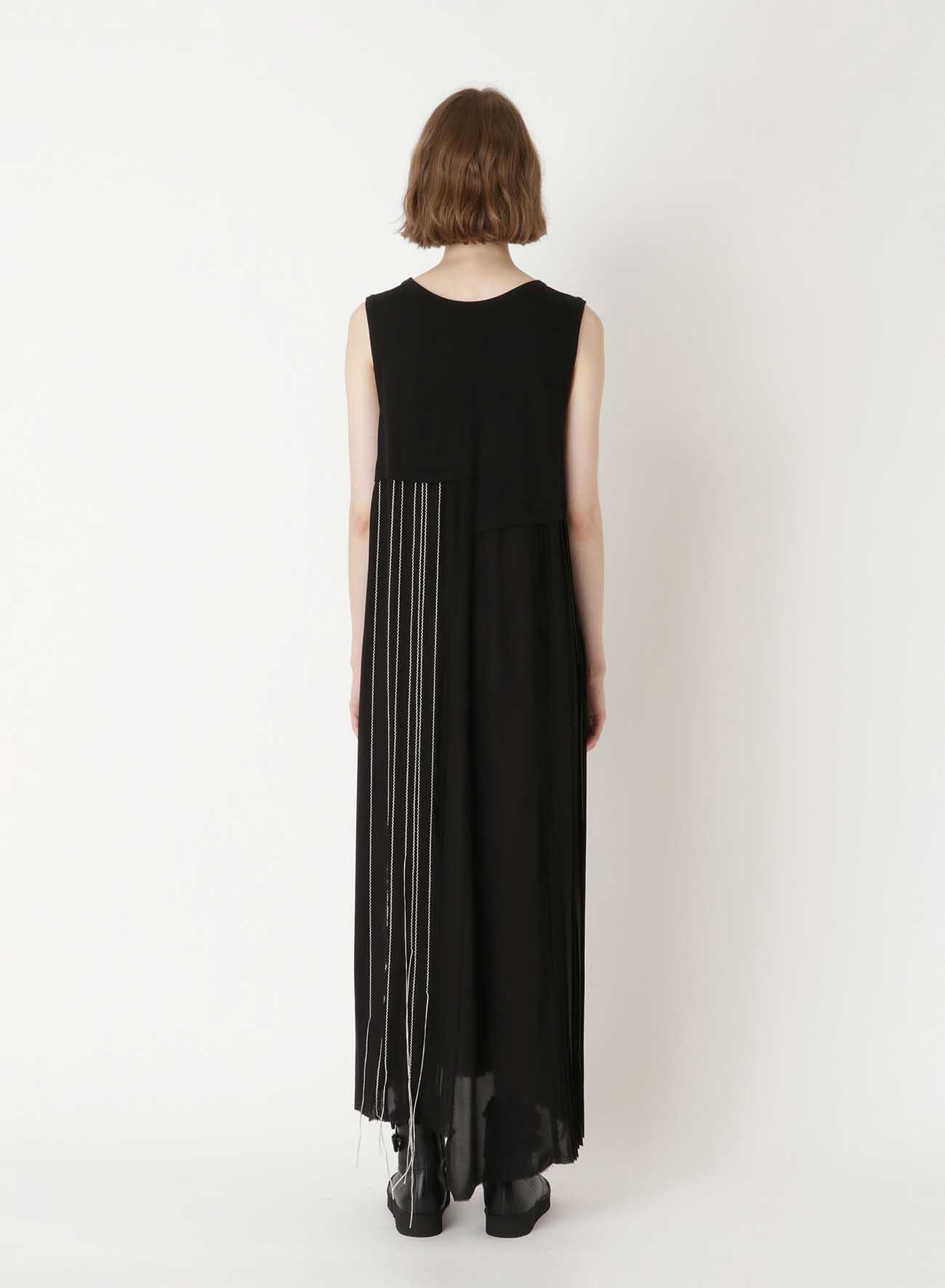 PLEATS COMBI C/S DRESS