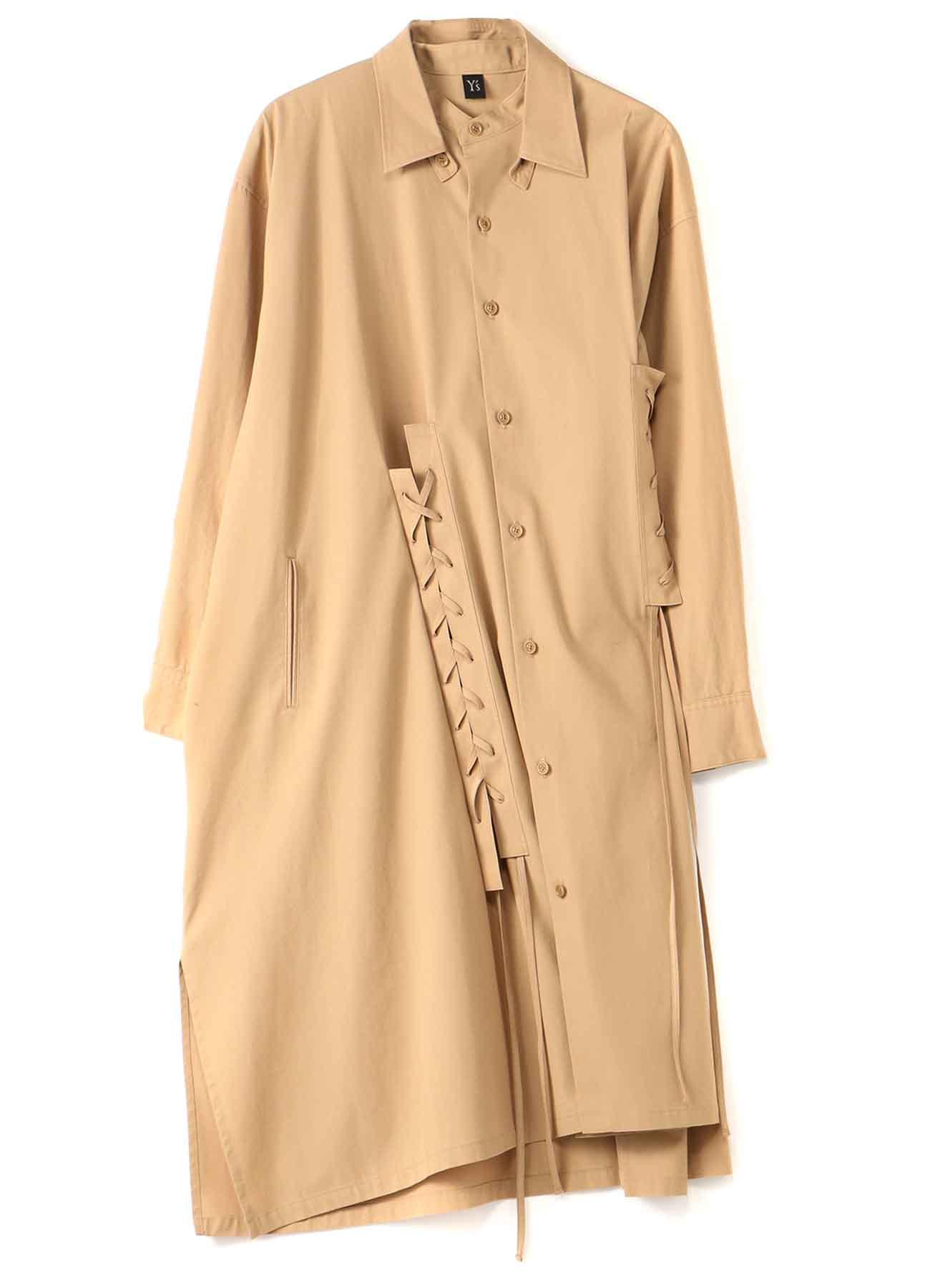60/2 TWISTED GABARDINE LACE UP DRESS