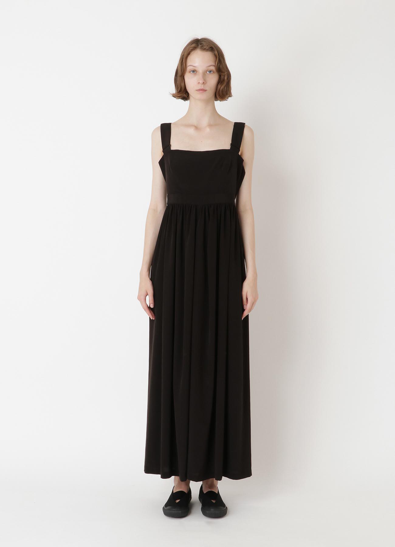 Ta/Pe de CHINE THIN GATHER DRESS