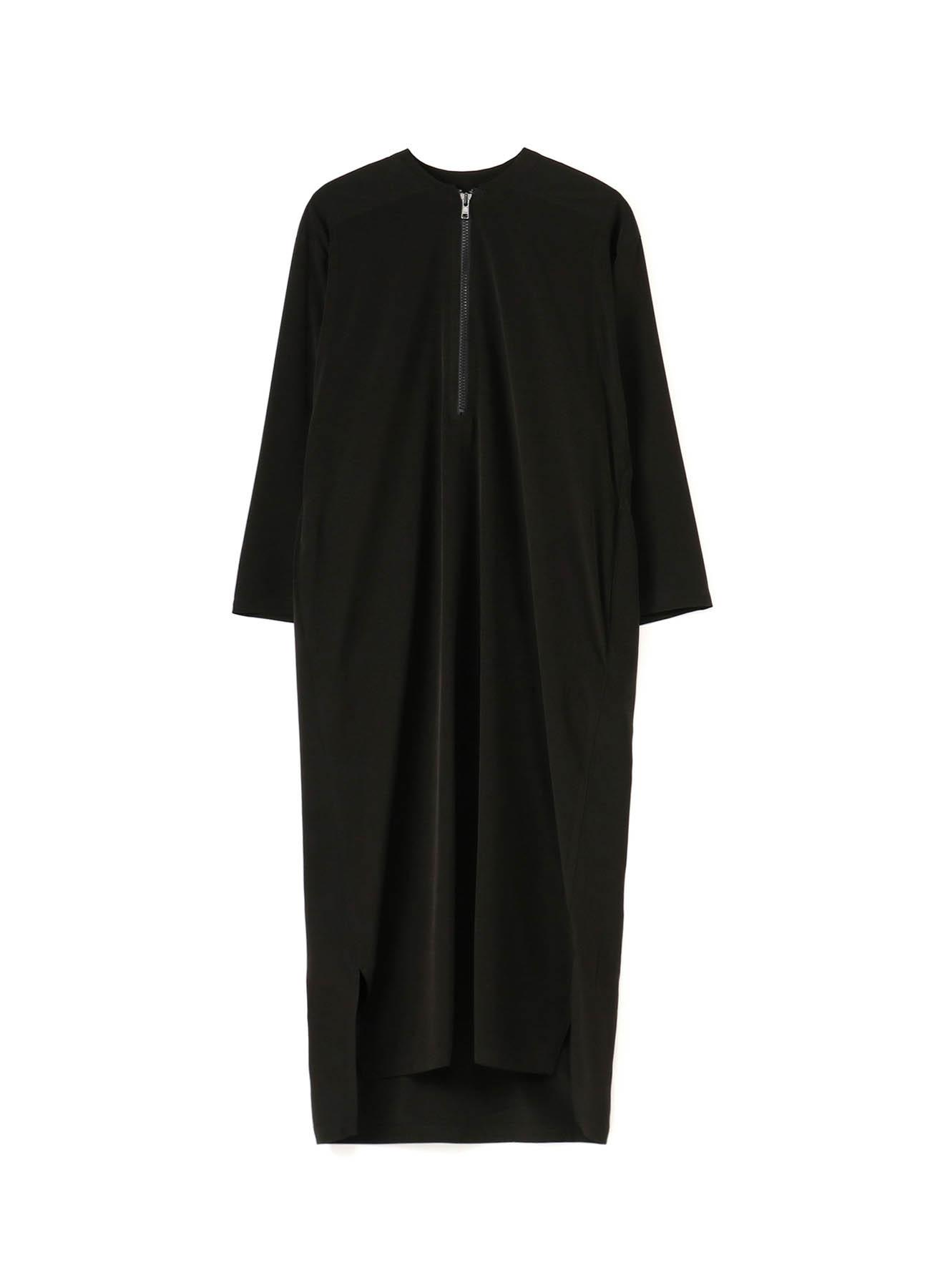 TRIACETATE POLY TUSSAR FASTENER DRESS