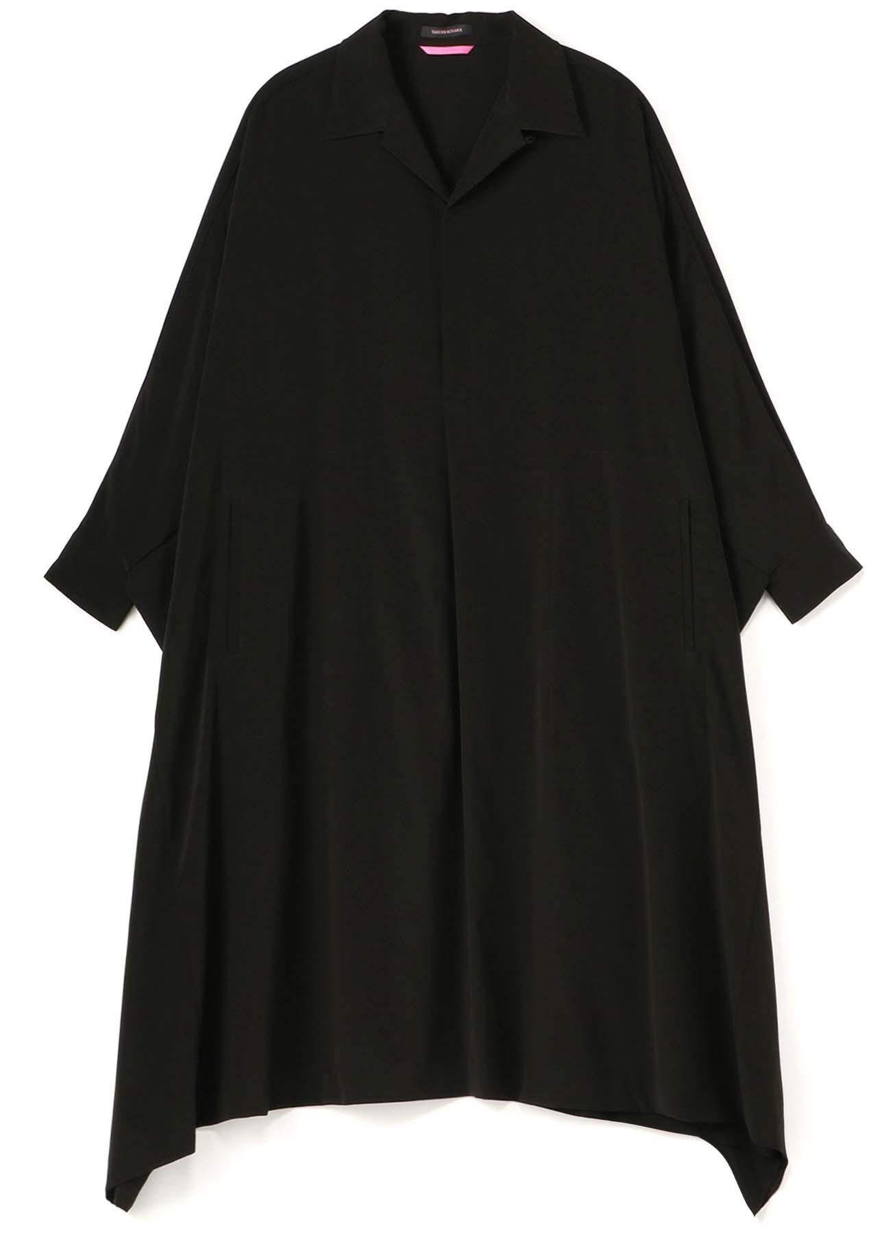 TRIACETATE POLY TUSSAR BIG SHIRT DRESS