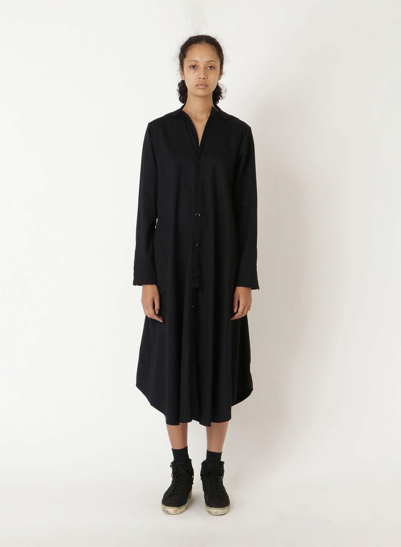 TWILL OUT POCKET SHIRT DRESS
