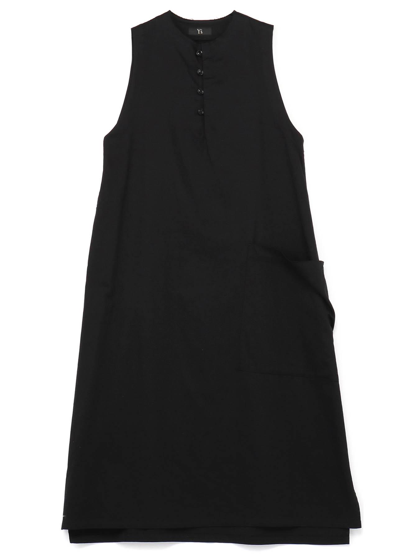 TWILL FOUR BUTTON LONG DRESS