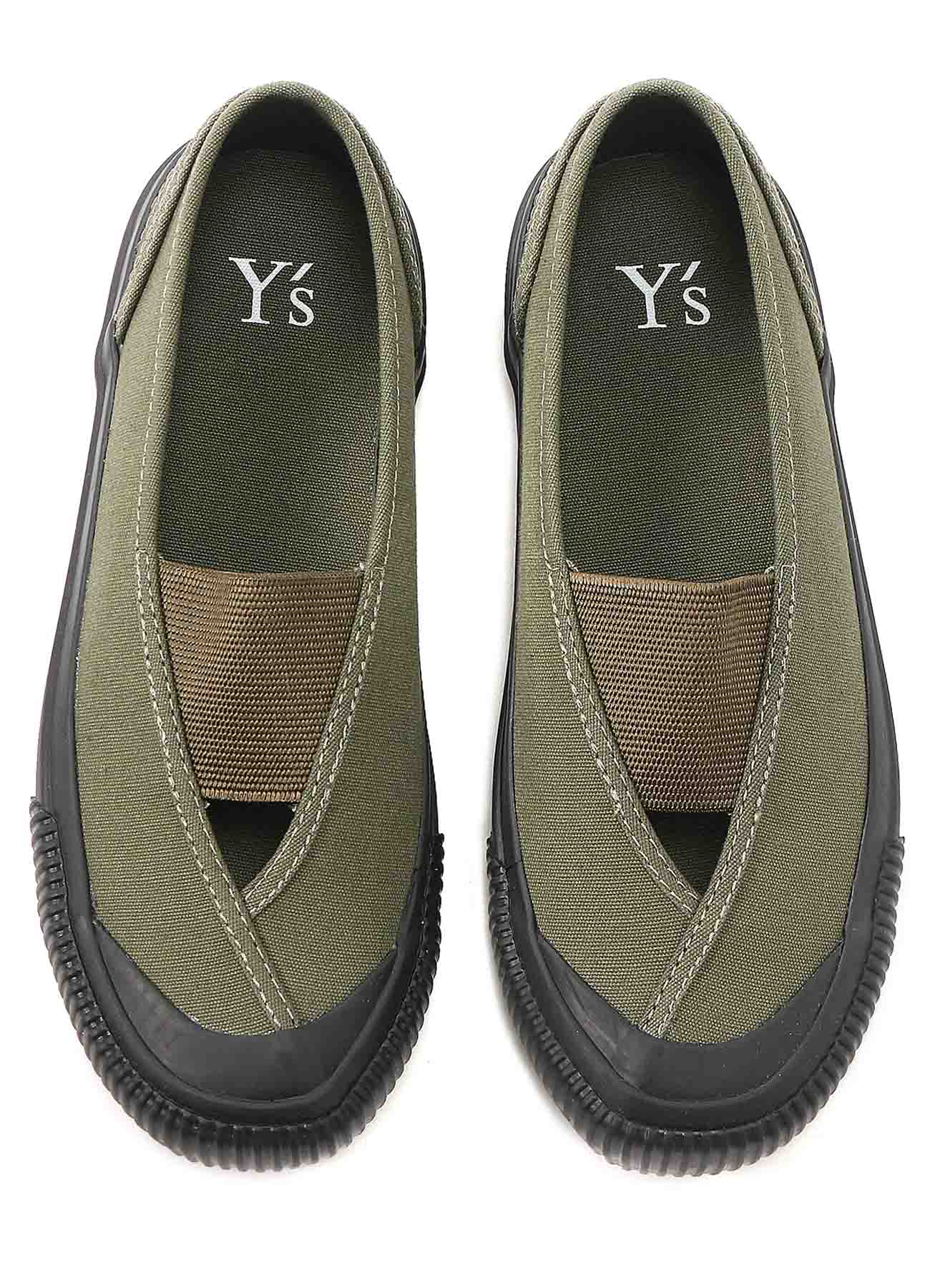 No.11 CANVAS GORE SLIP-ON SNEAKERS