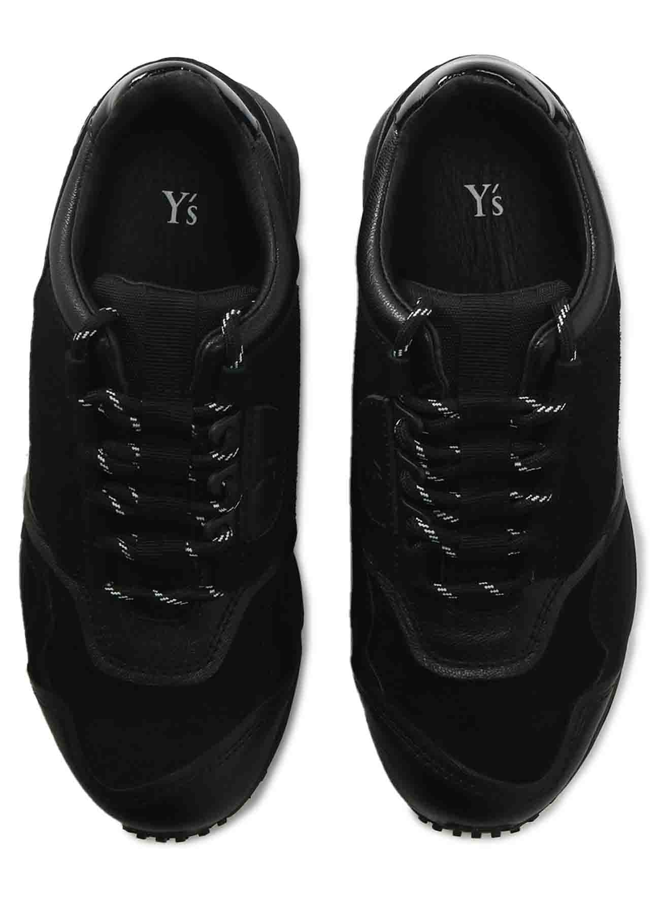 COMBI LEATHER LEATHER SNEAKERS