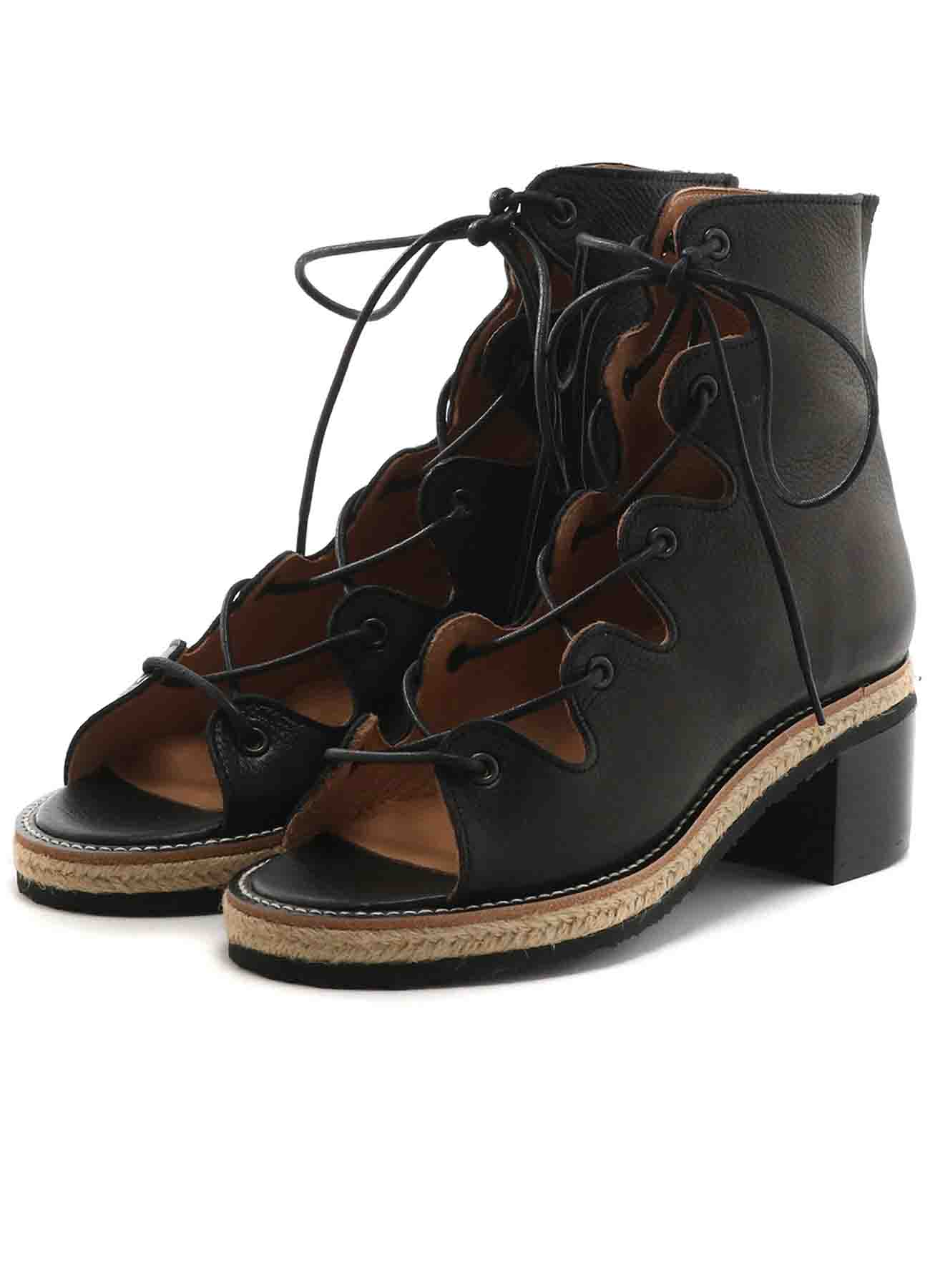 SOFT MATTE LEATHER BOOTS SANDALS