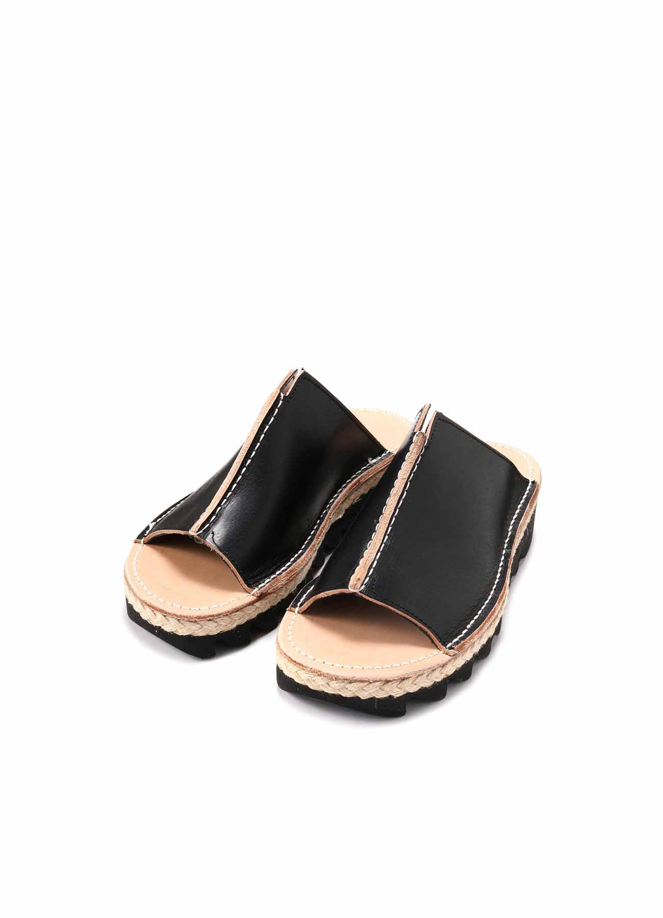 THICH NUME LEATHER B CENTER CONNECTED SANDALS