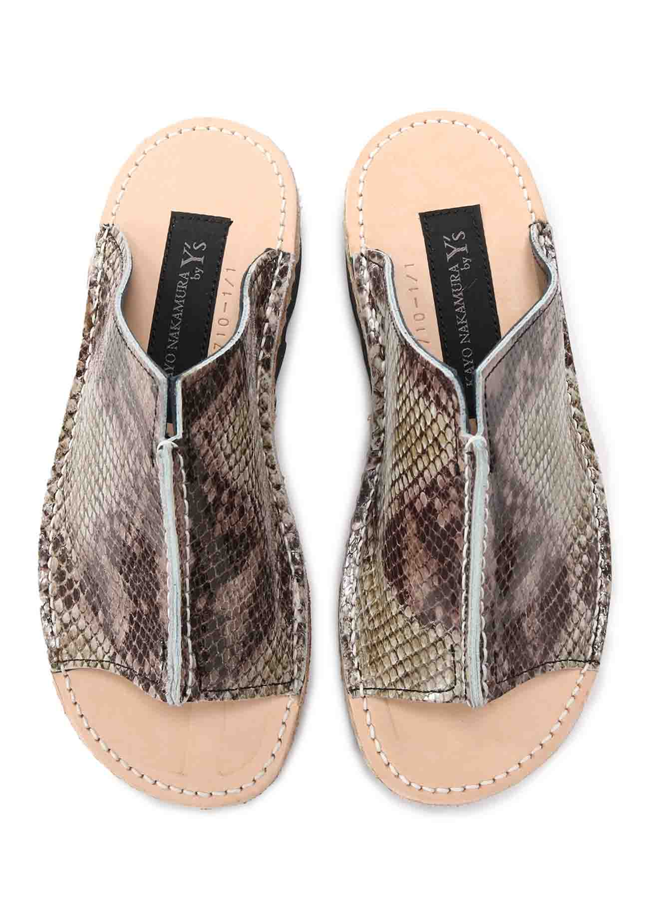 PYTHON EMBOSSING CENTER CONNECTED SANDALS