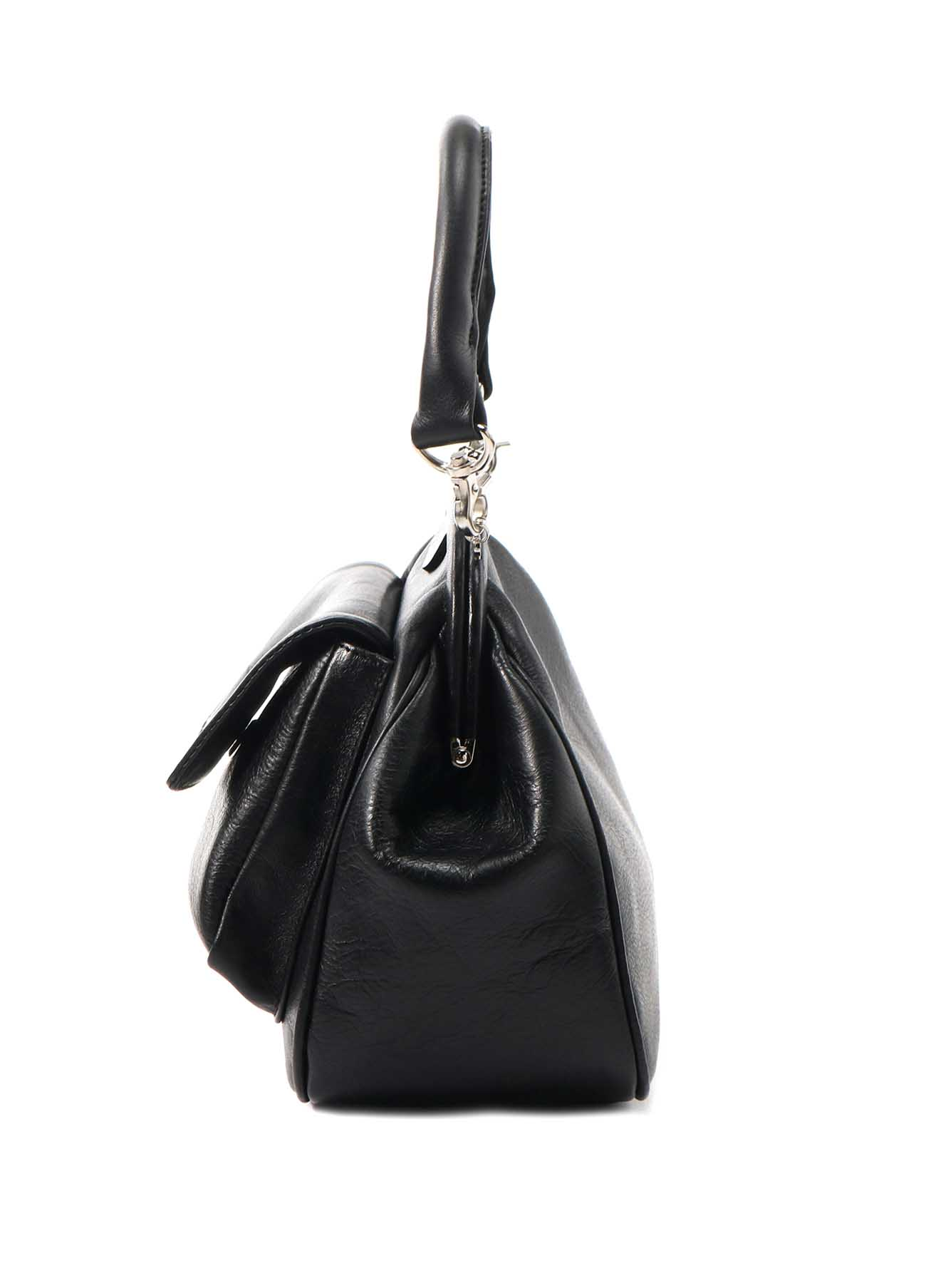 SEMI GLOSS LEATHER A CLASP PKT BAG S