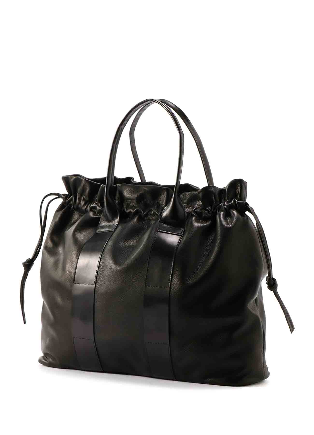 SOFT LEATHER COMBI LEATHER TOTE BAG
