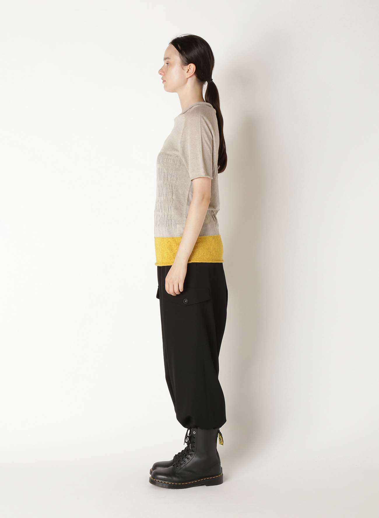 LINEN MESSAGE LINKS OFF NECK FRENCH SLEEVE